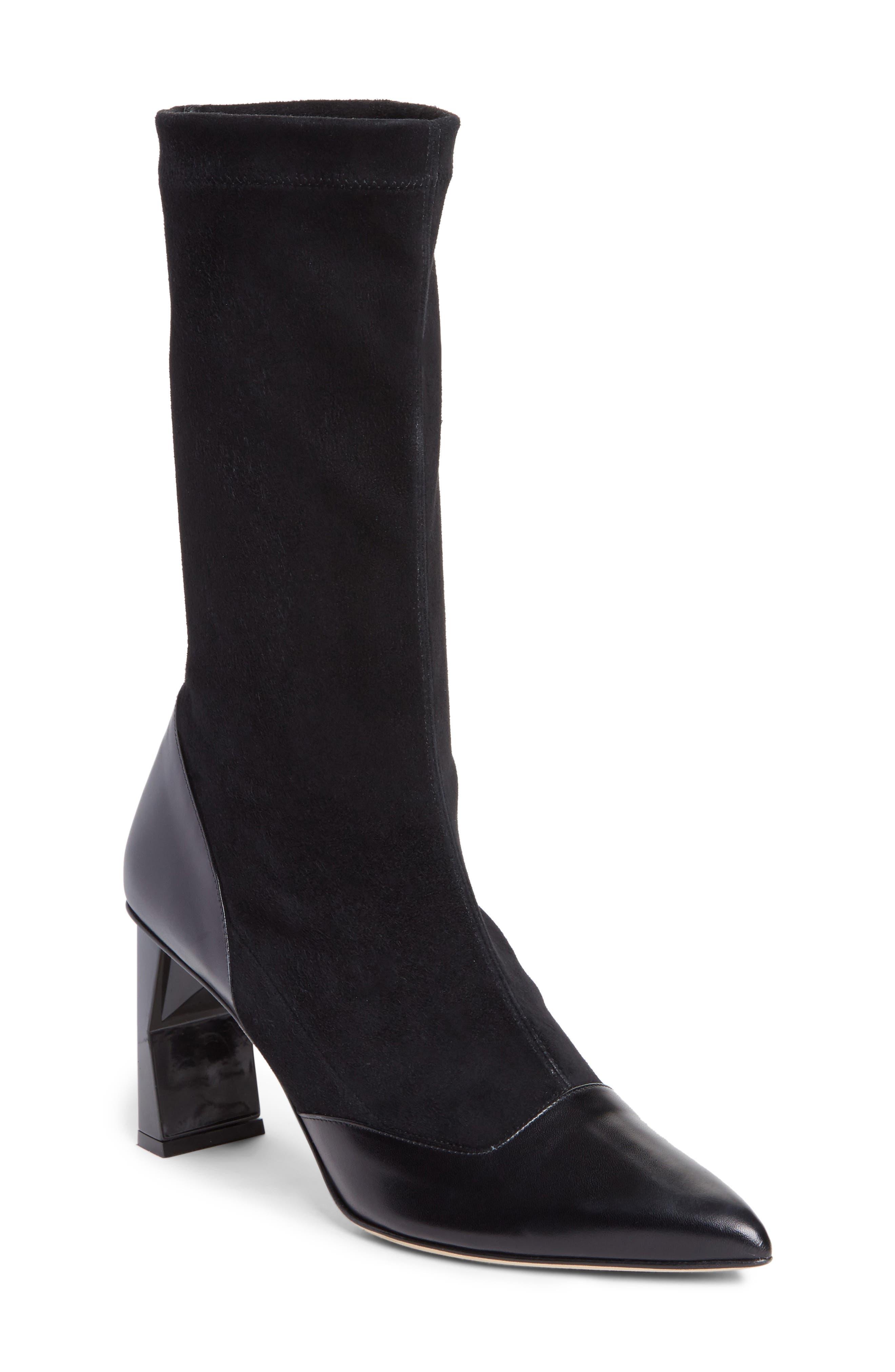 Tibi Felice Pointy Toe Boot (Women)