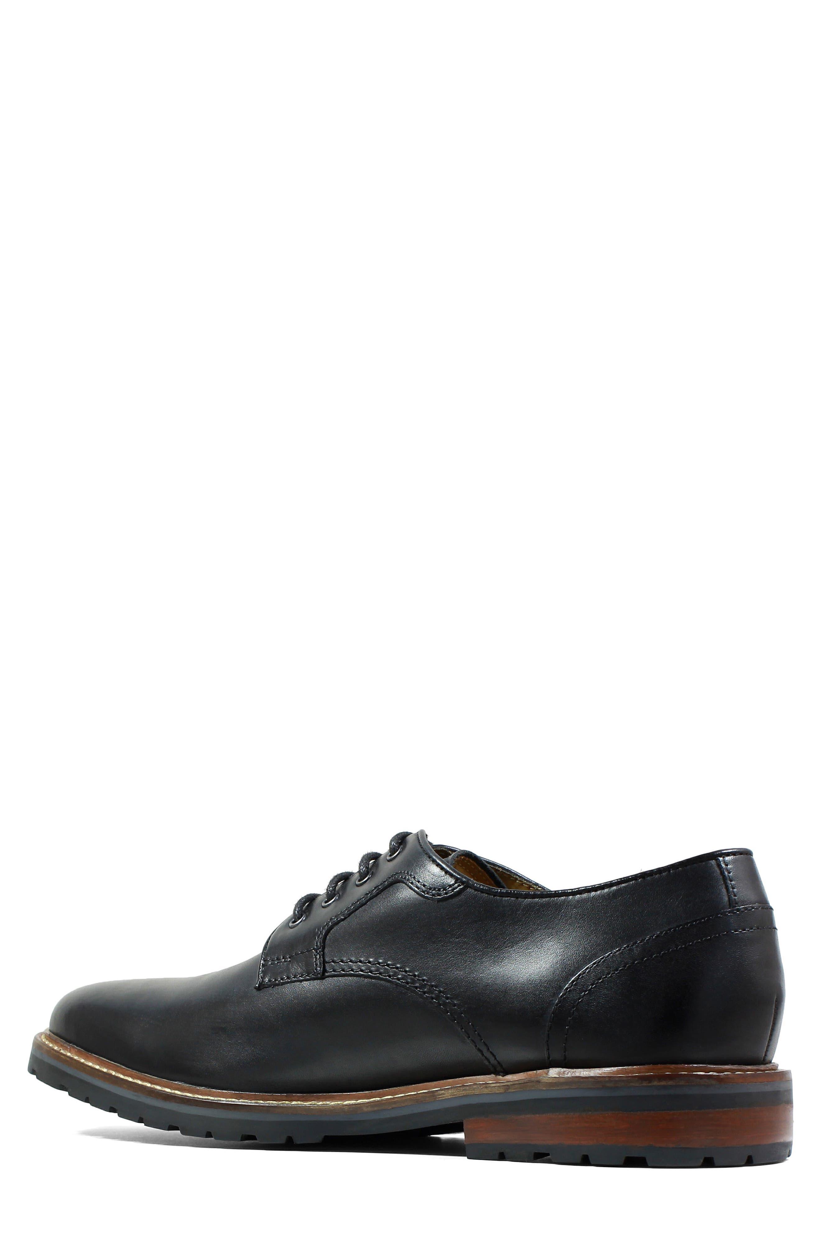 Estabrook Plain Toe Derby,                             Alternate thumbnail 2, color,                             Black