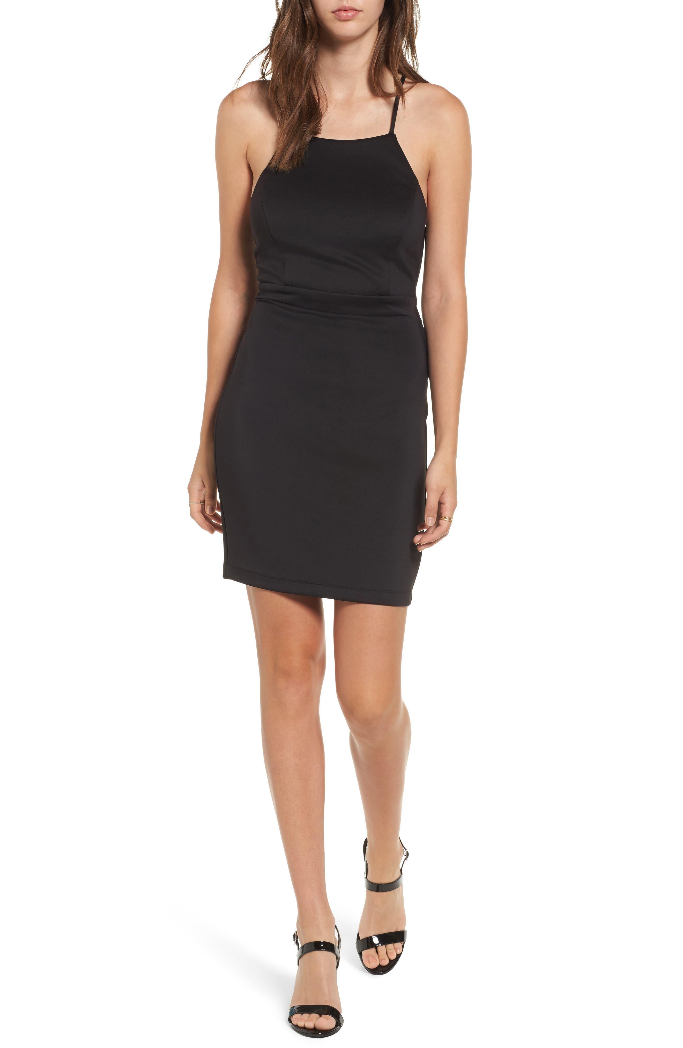 Love, Nickie Lew Strappy Body-Con Dress