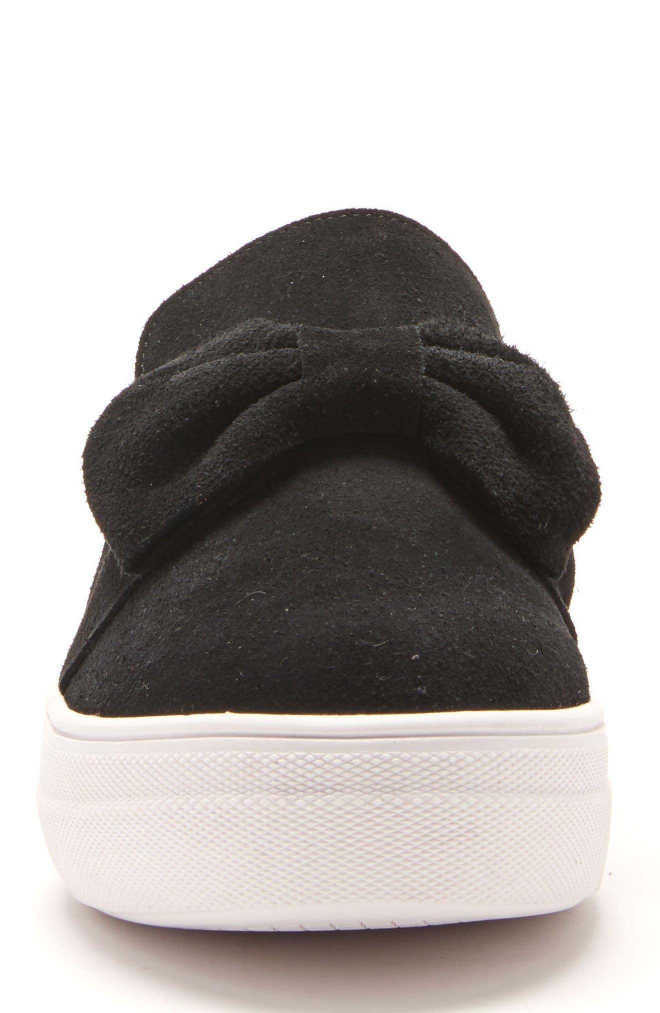Gigi Sneaker,                             Alternate thumbnail 4, color,                             Black Suede