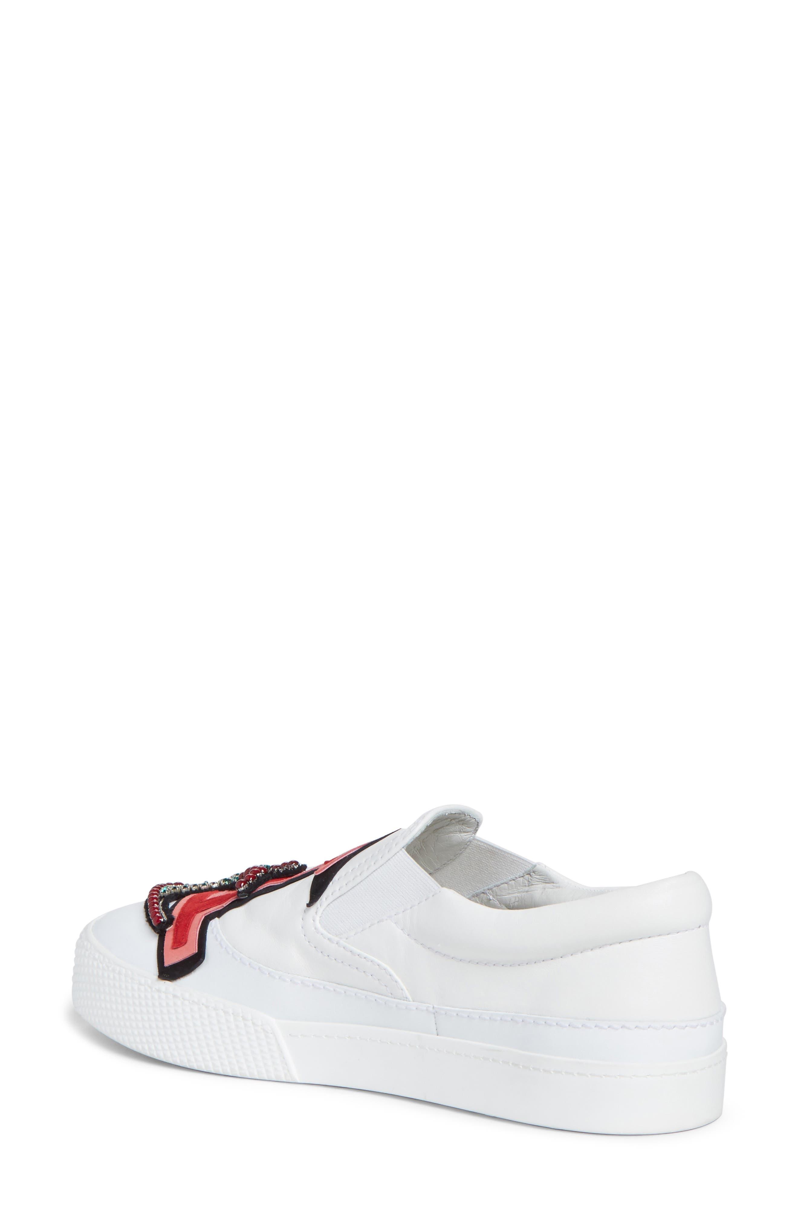 Alternate Image 2  - Miu Miu Embellished Slip-On Sneaker (Women)