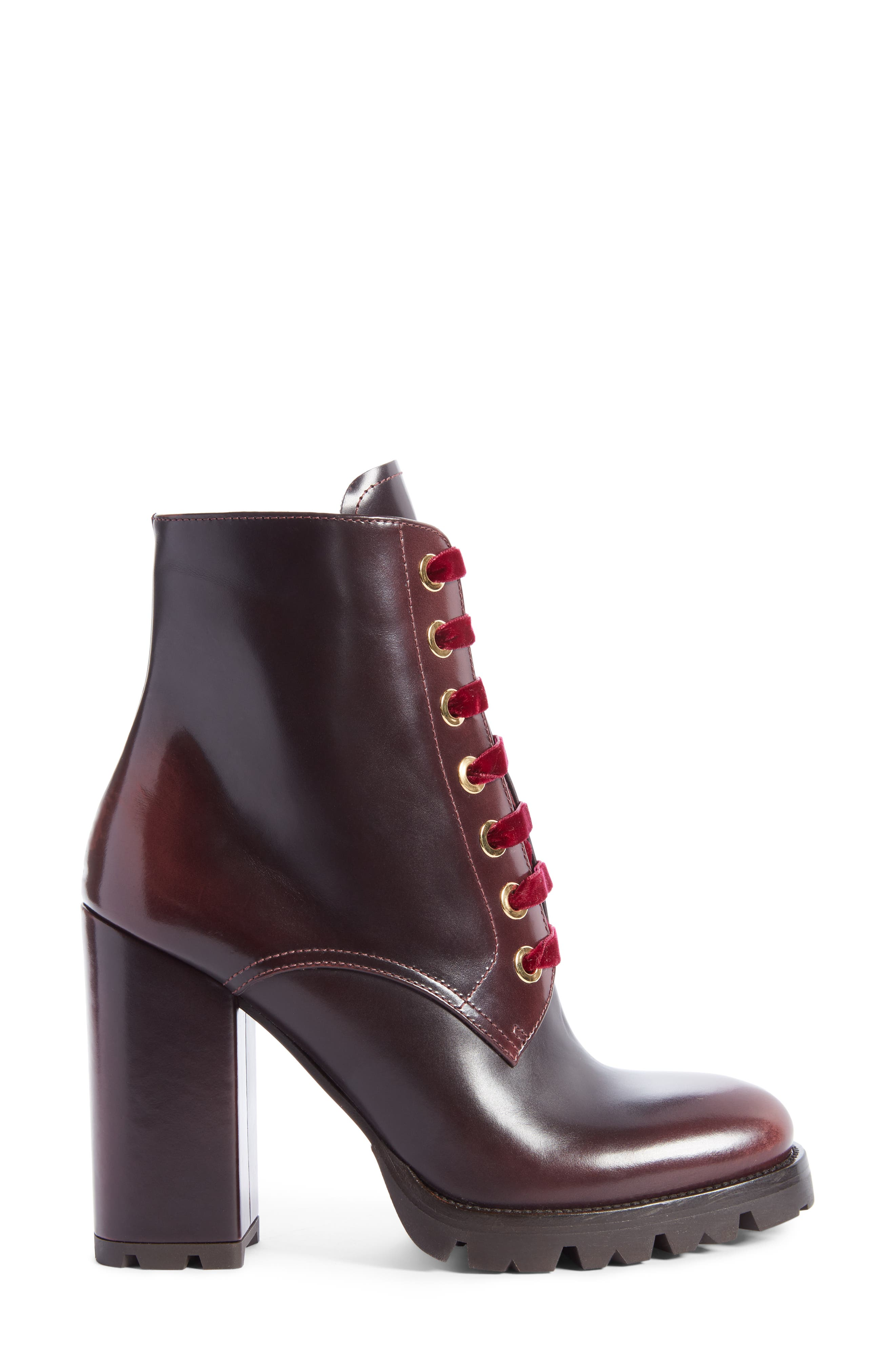 Lace-Up Boot,                             Alternate thumbnail 4, color,                             Brown
