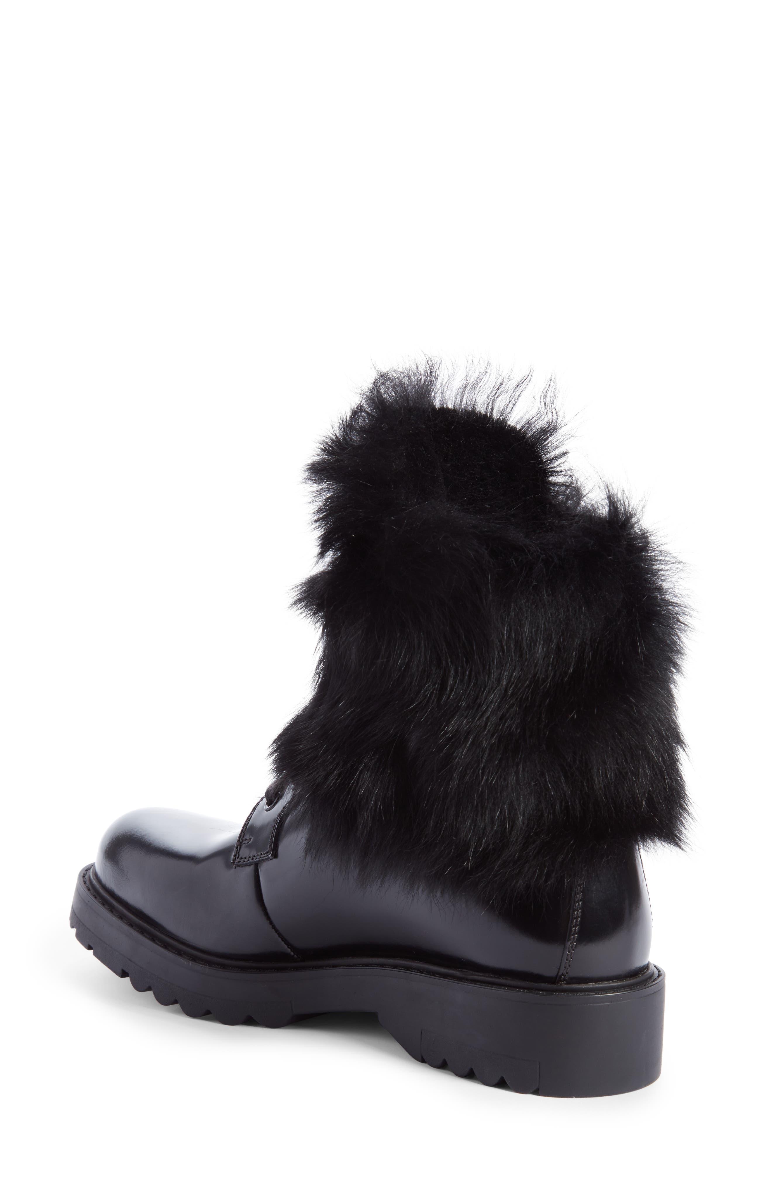 Alternate Image 2  - Prada Genuine Shearling Lined Boot (Women)