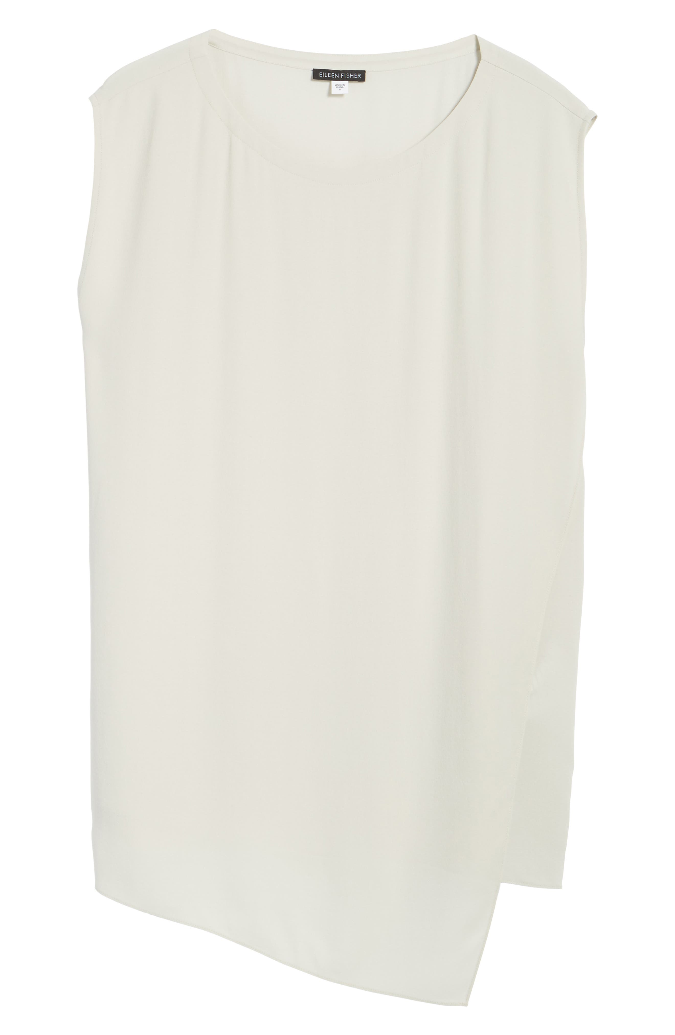 Alternate Image 6  - Eileen Fisher Asymmetrical Silk Tunic (Regular & Petite)