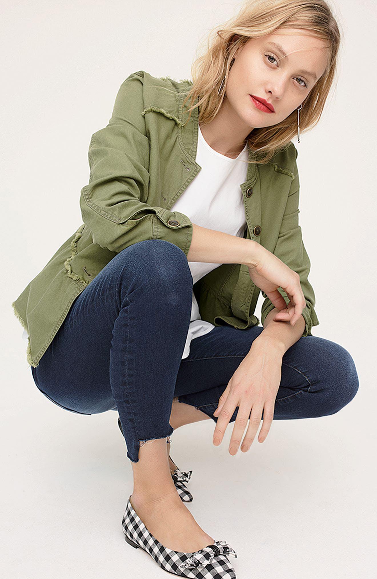 Alternate Image 2  - Caslon® Twill Peplum Jacket (Regular & Petite)