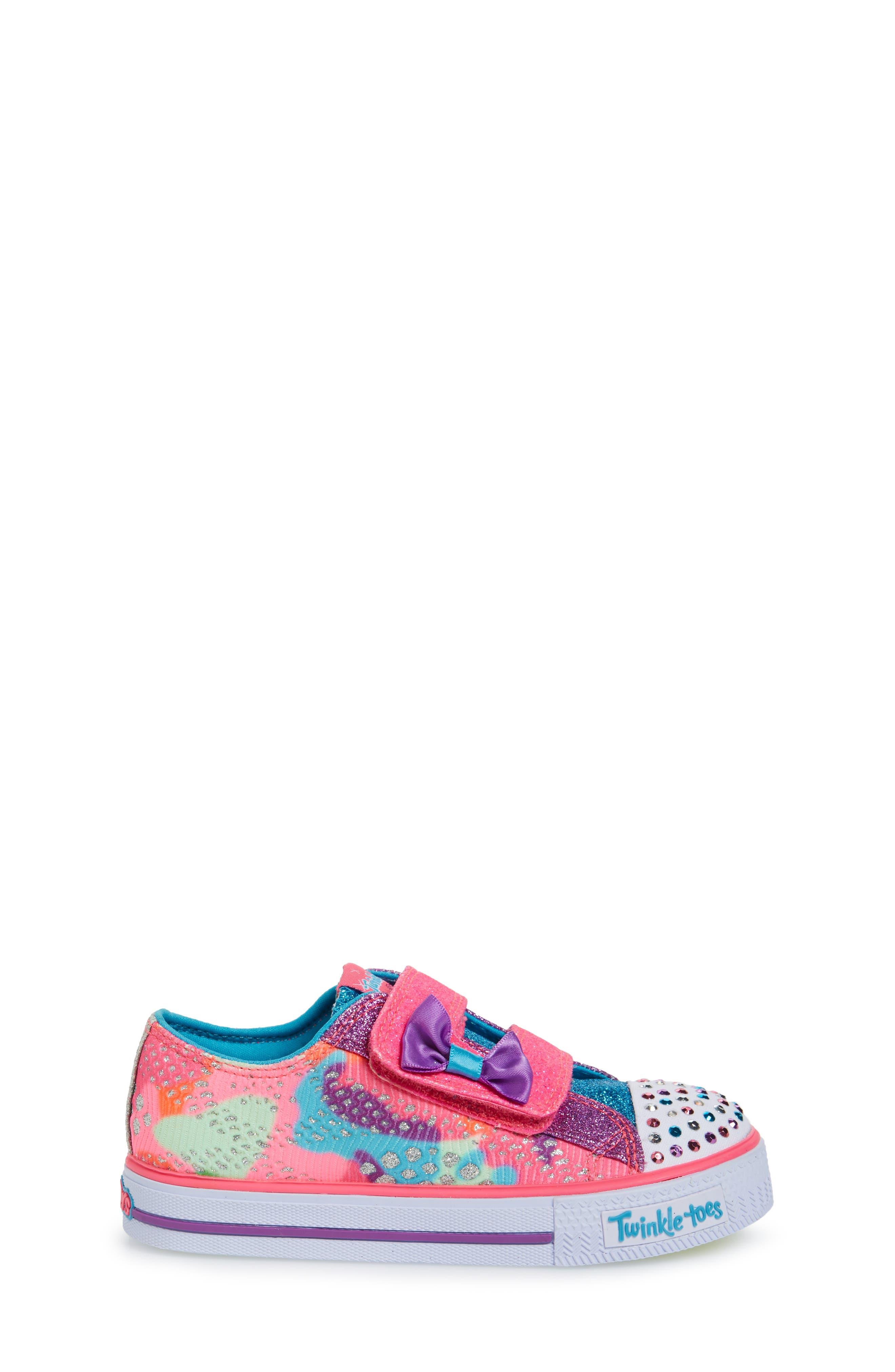 Alternate Image 3  - SKECHERS Twinkle Toes Shuffles Light-Up Sneaker (Walker & Toddler)