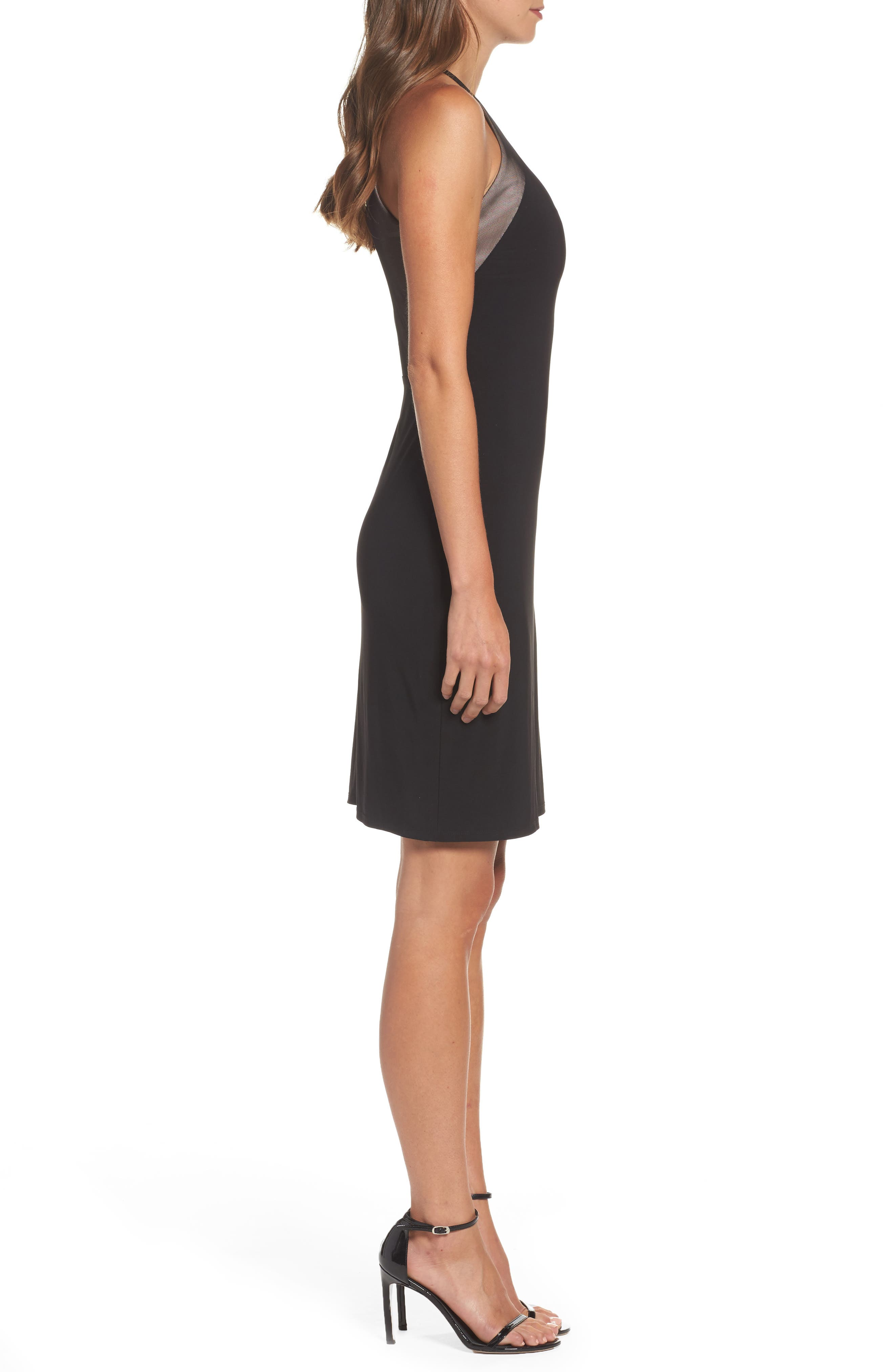 Willus Sheath Dress,                             Alternate thumbnail 3, color,                             Black/ Nude