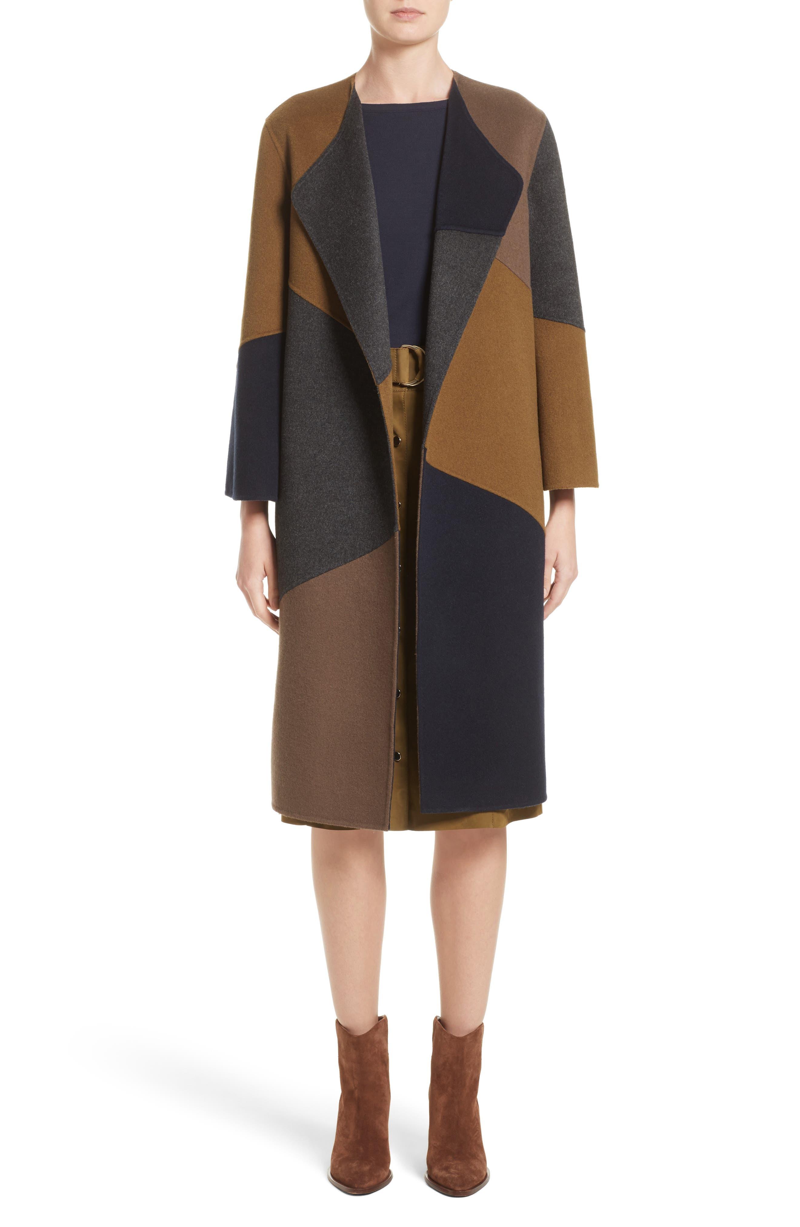 Belissa Double Face Reversible Coat,                         Main,                         color, Smoke/ Morel