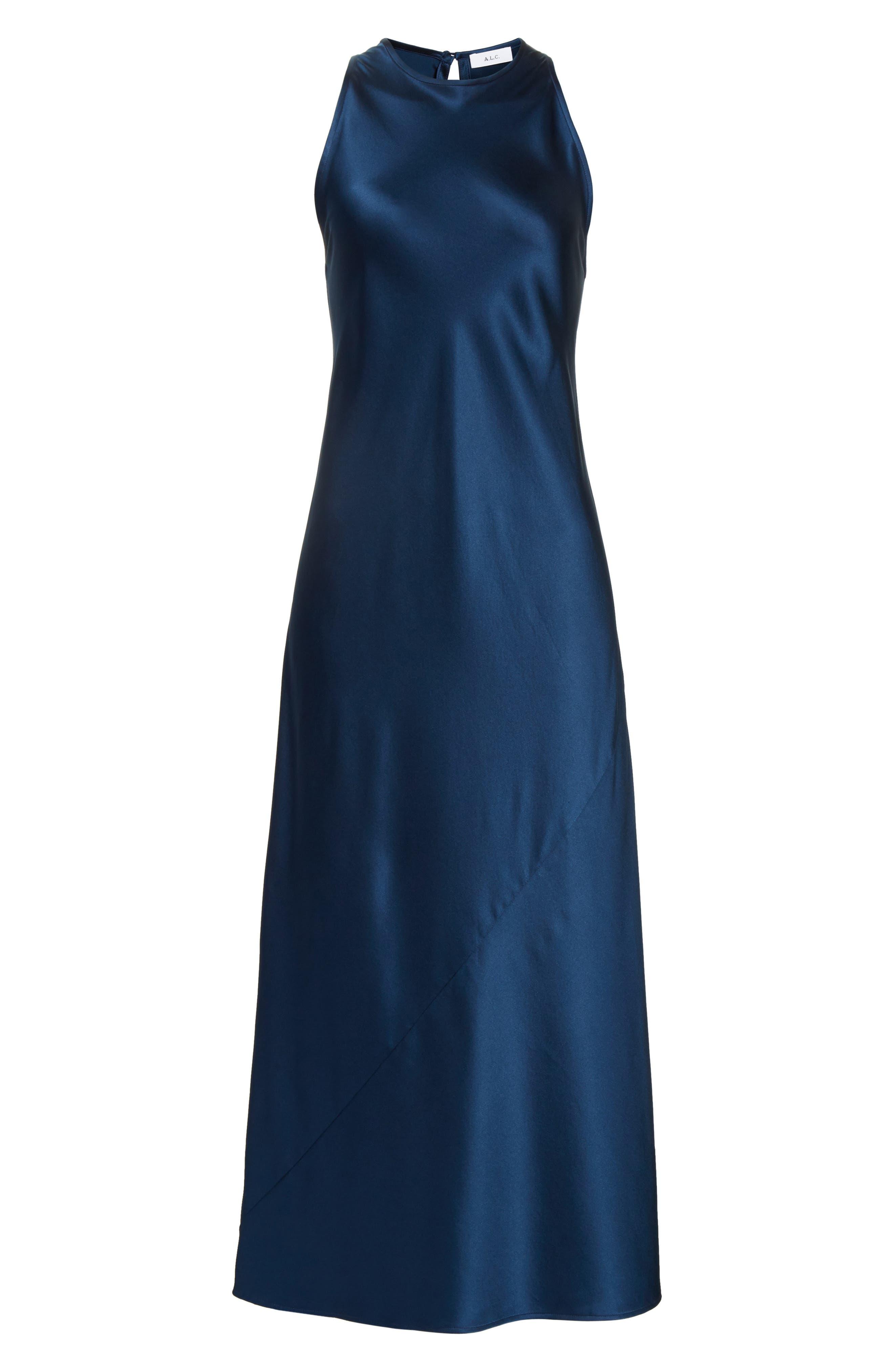 Alternate Image 6  - A.L.C. Mikel Stretch Silk Midi Dress