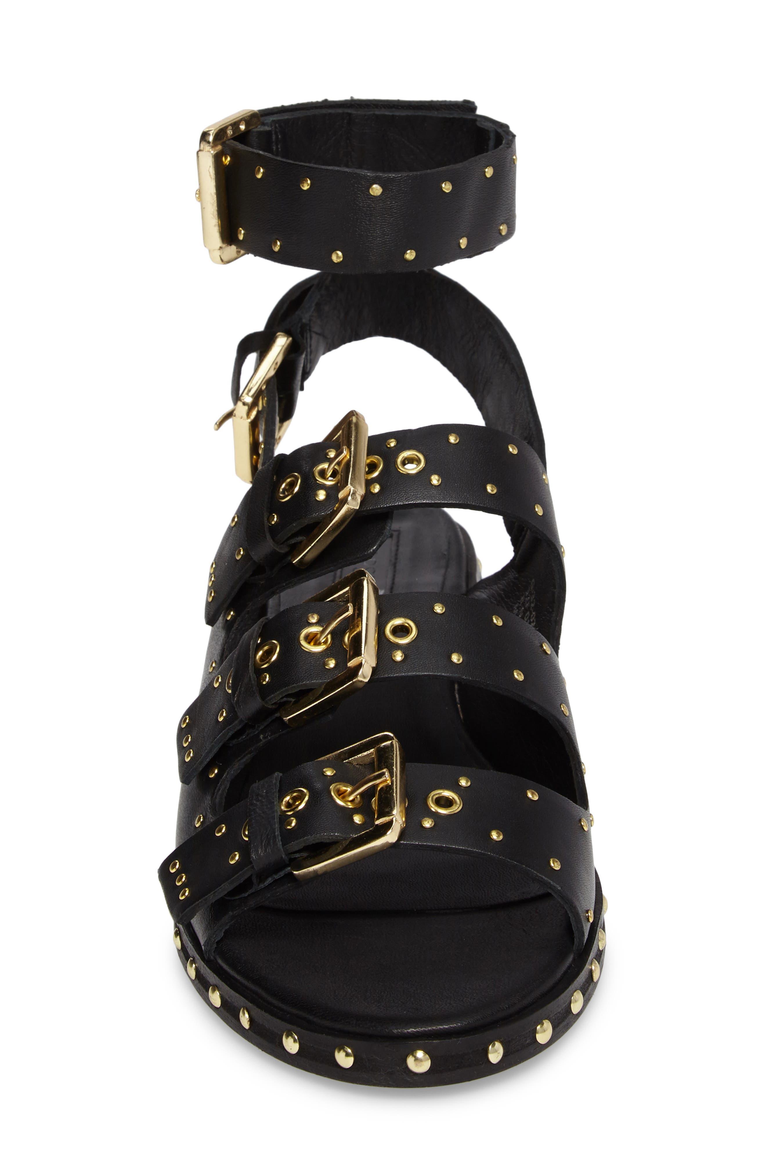 Alternate Image 4  - Topshop Frank Studded Buckle Sandal (Women)