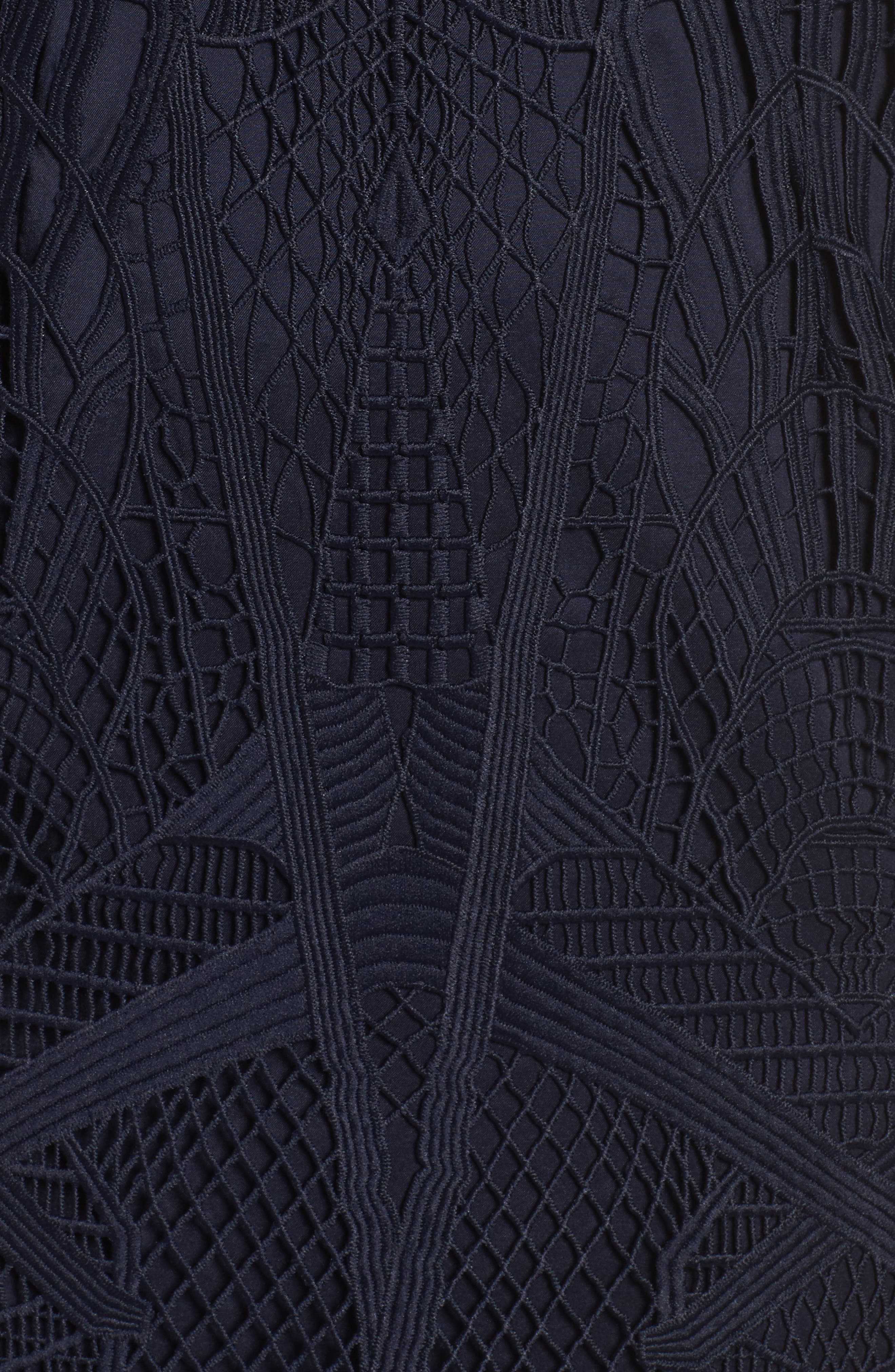 Alternate Image 5  - Bardot Illusion Lace Sheath Dress