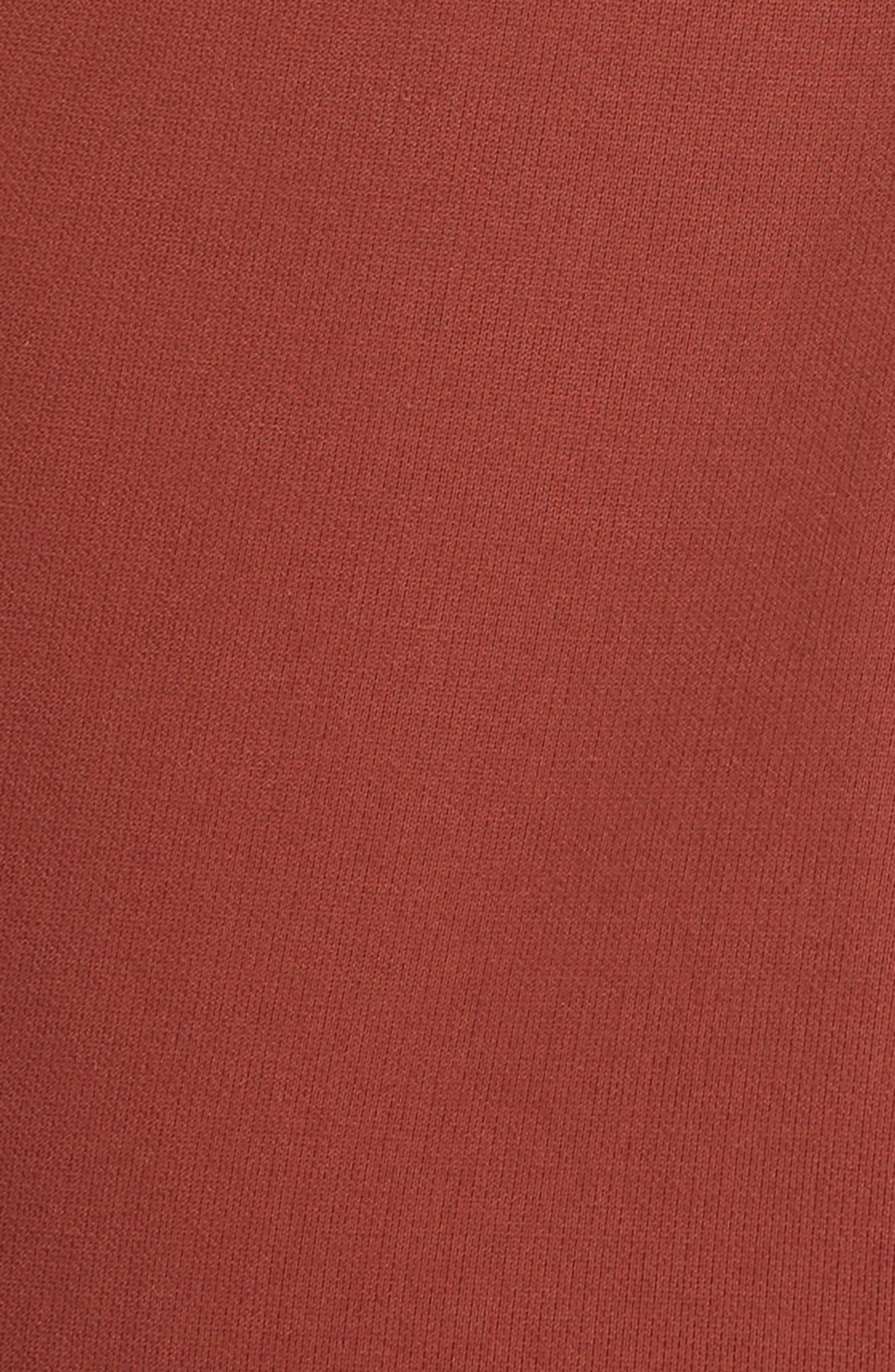 Adelise Crossover Sleeveless Sheath Dress,                             Alternate thumbnail 5, color,                             Tobacco