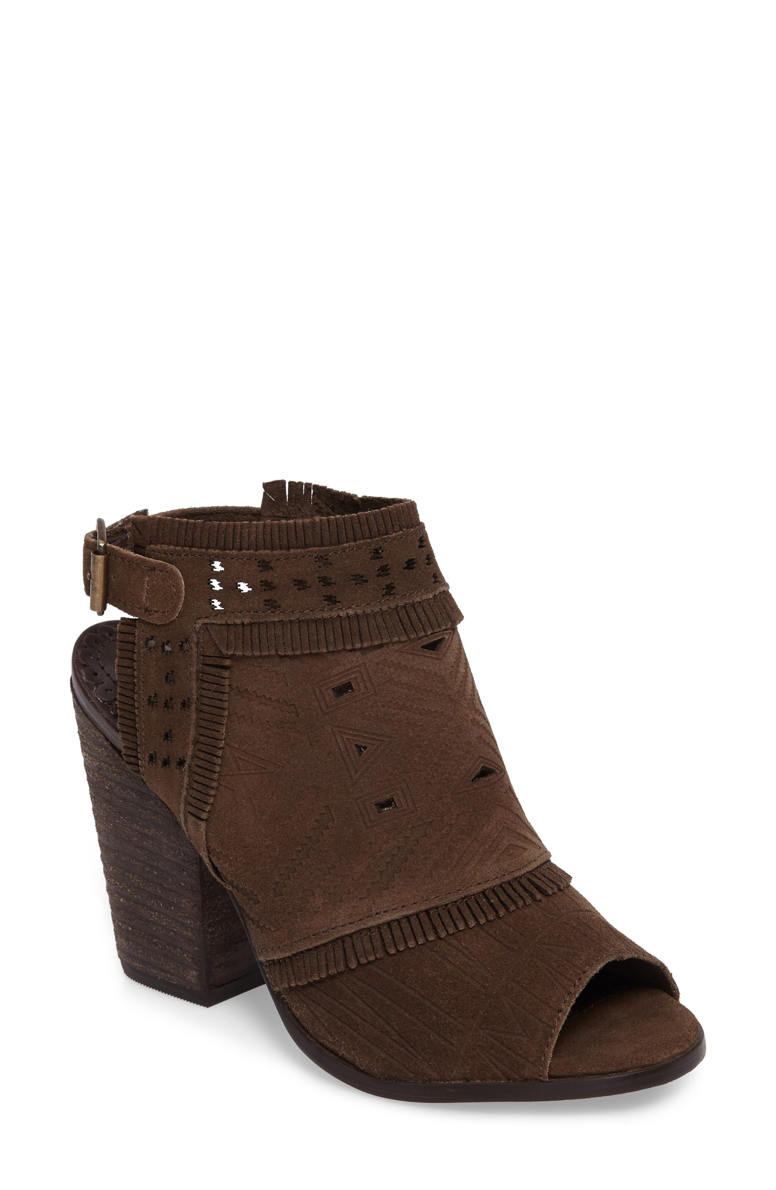 Naughty Monkey Sweet Jackie Embossed Bootie Sandal (Women)