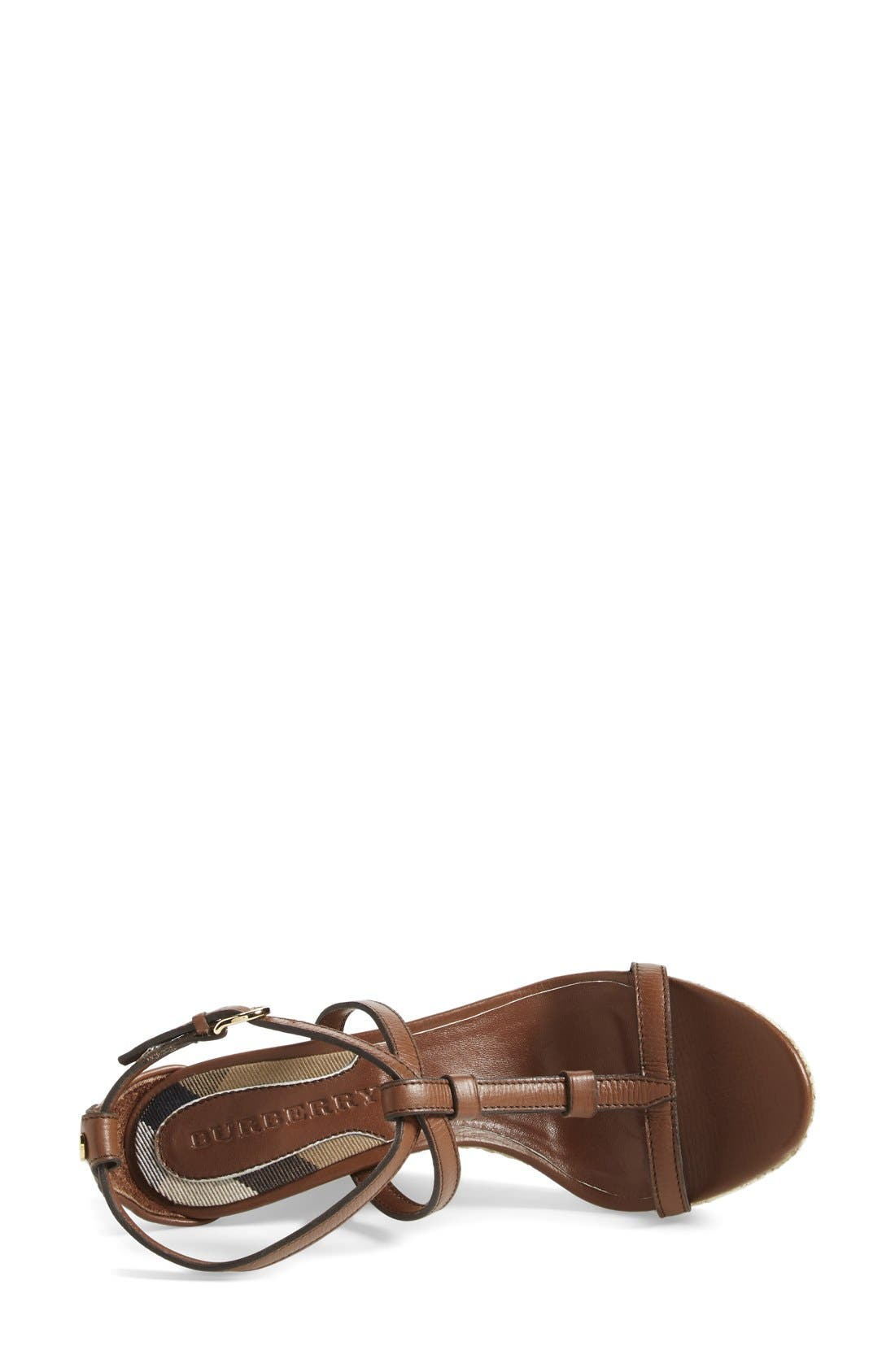 Alternate Image 3  - Burberry 'Wedland' Espadrille Wedge Sandal (Women)