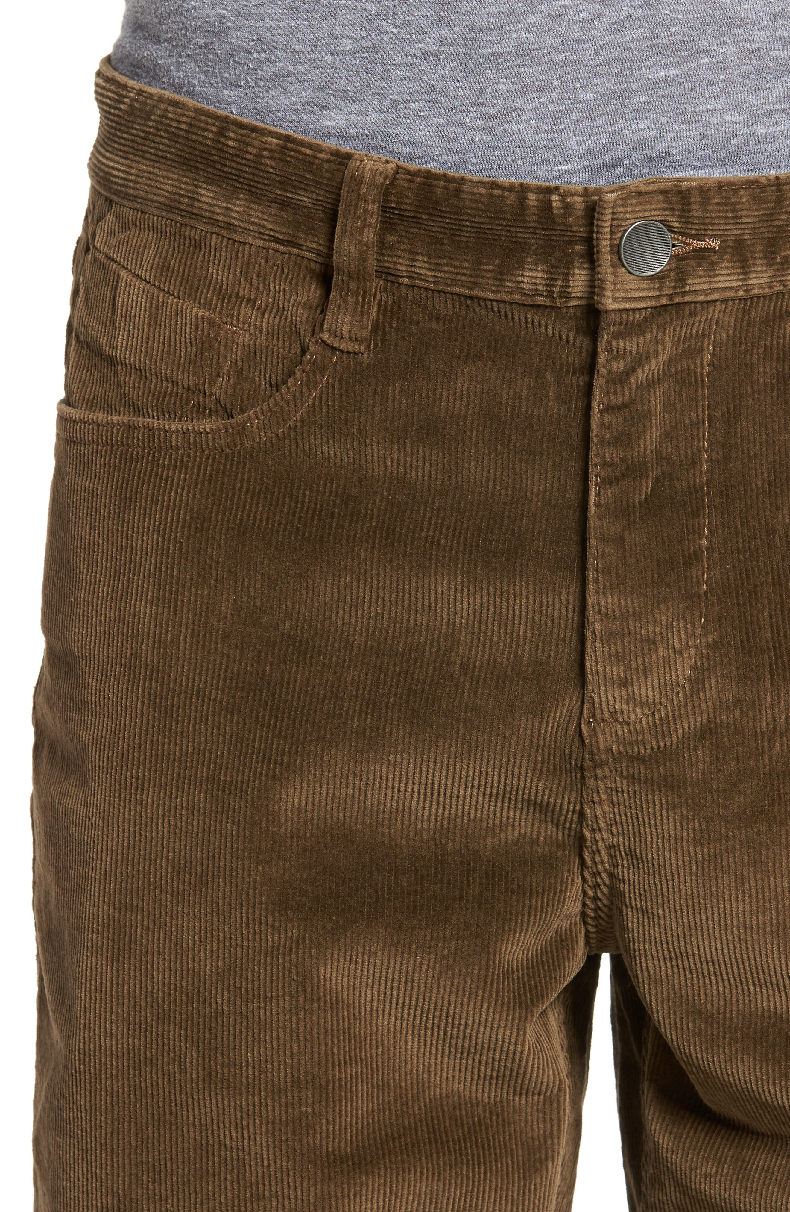 Outsider Corduroy Shorts,                             Alternate thumbnail 4, color,                             Brown