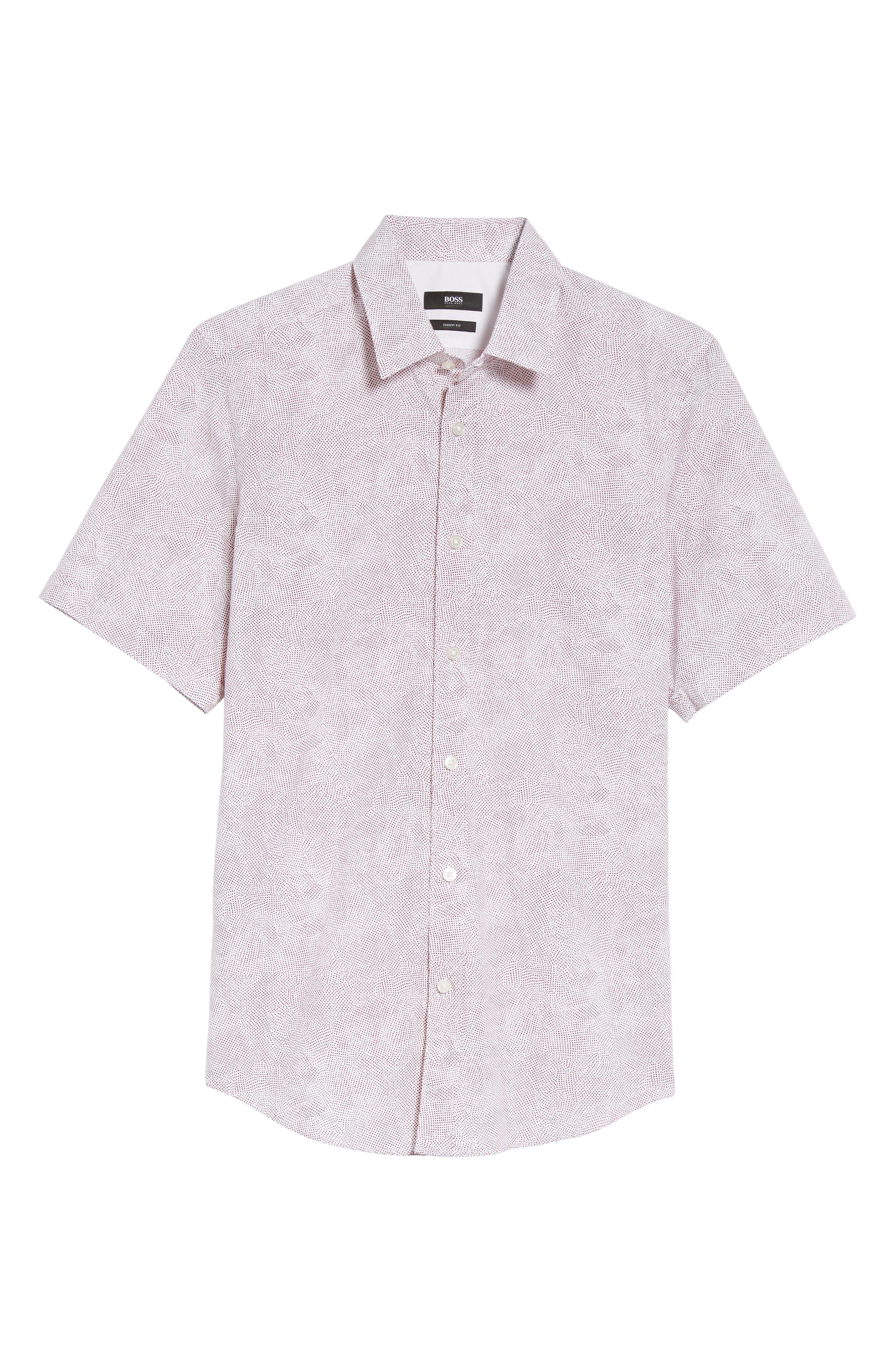 Alternate Image 5  - BOSS Luka Trim Fit Dot Print Sport Shirt