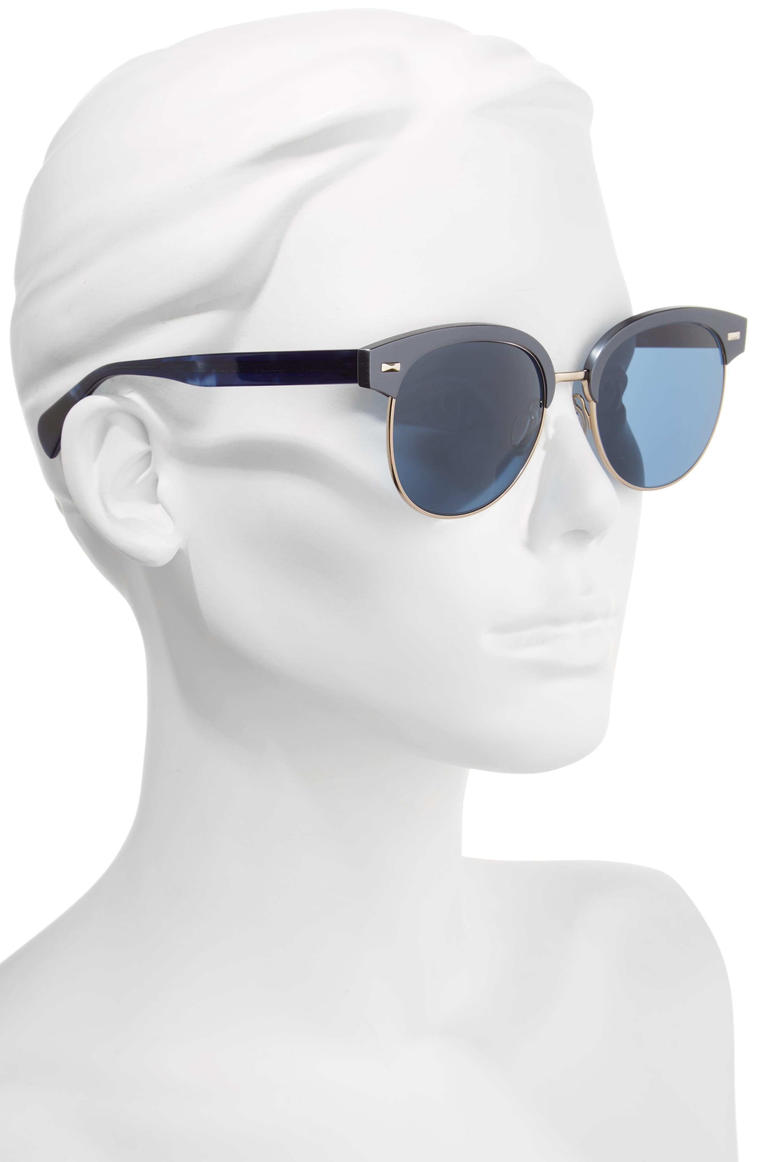Alternate Image 2  - Oliver Peoples Shaelie 55mm Mirrored Semi-Rim Sunglasses