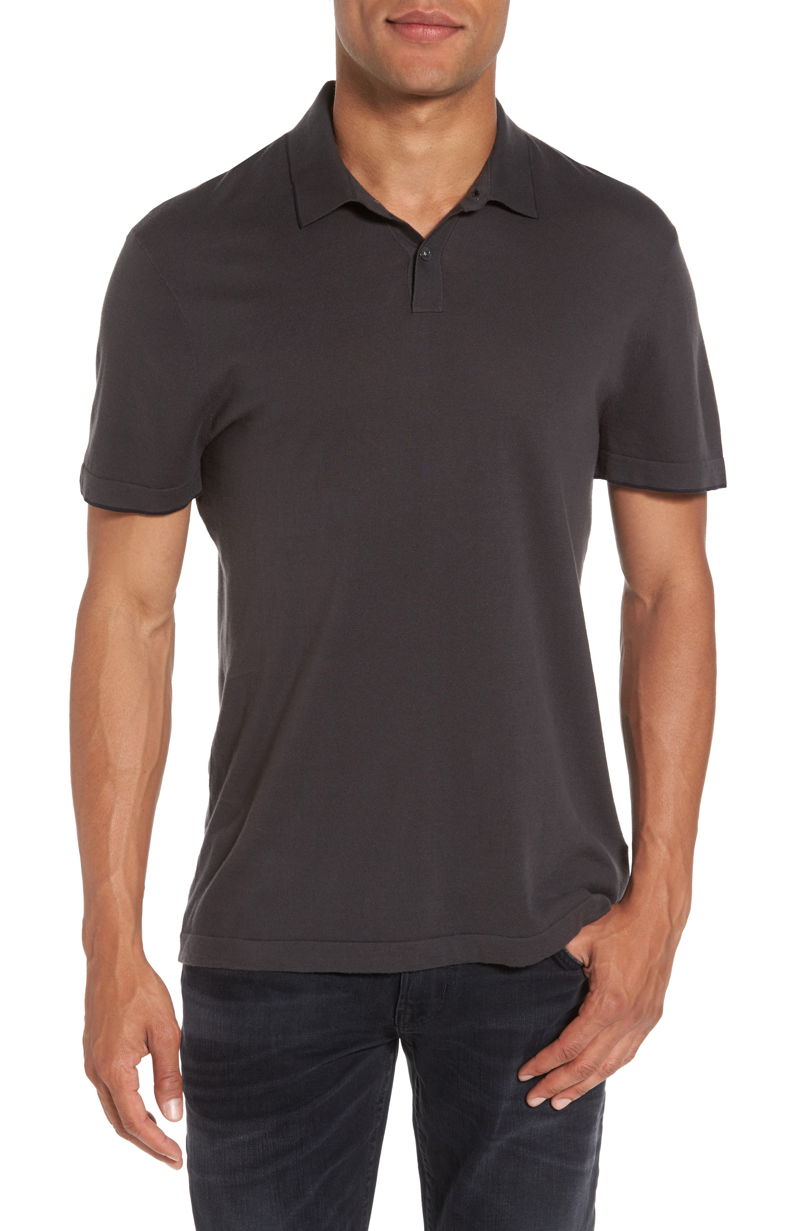 James Perse Fine Gauge Tipped Polo