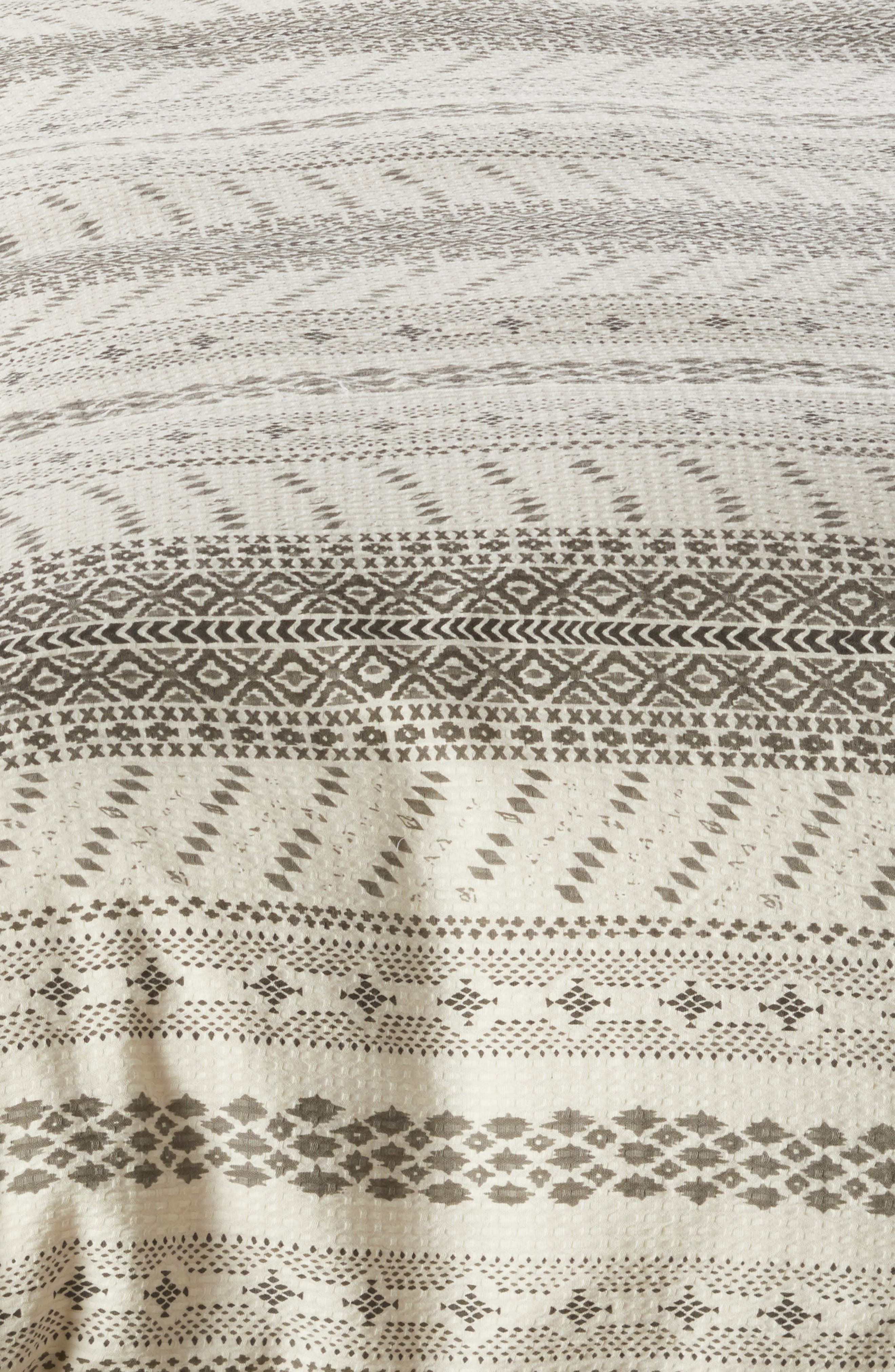Waffle Print Duvet Cover,                             Alternate thumbnail 2, color,                             Ivory Dove Multi
