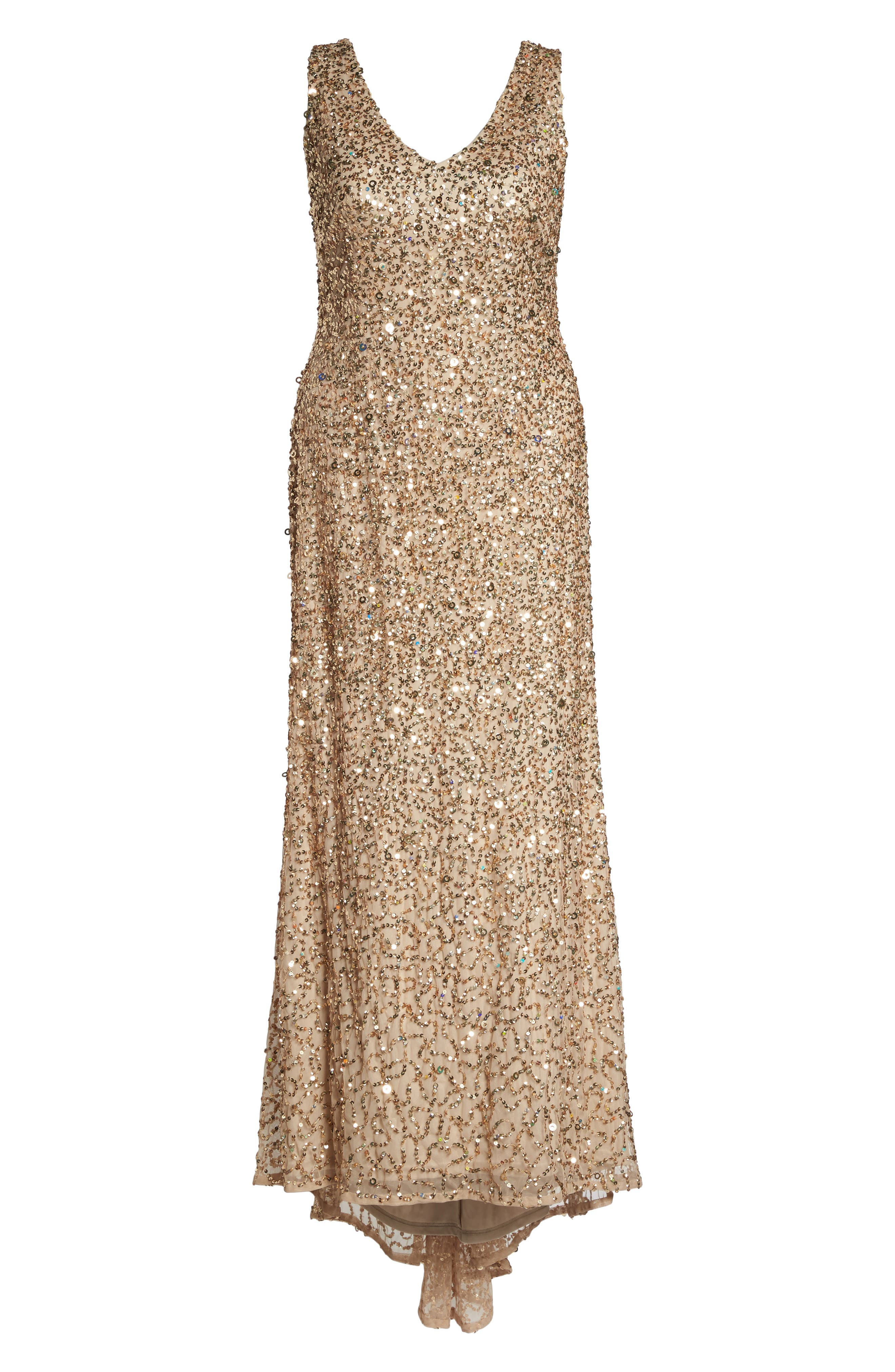 Alternate Image 6  - Adrianna Papell Sequin A-Line Gown (Plus Size)