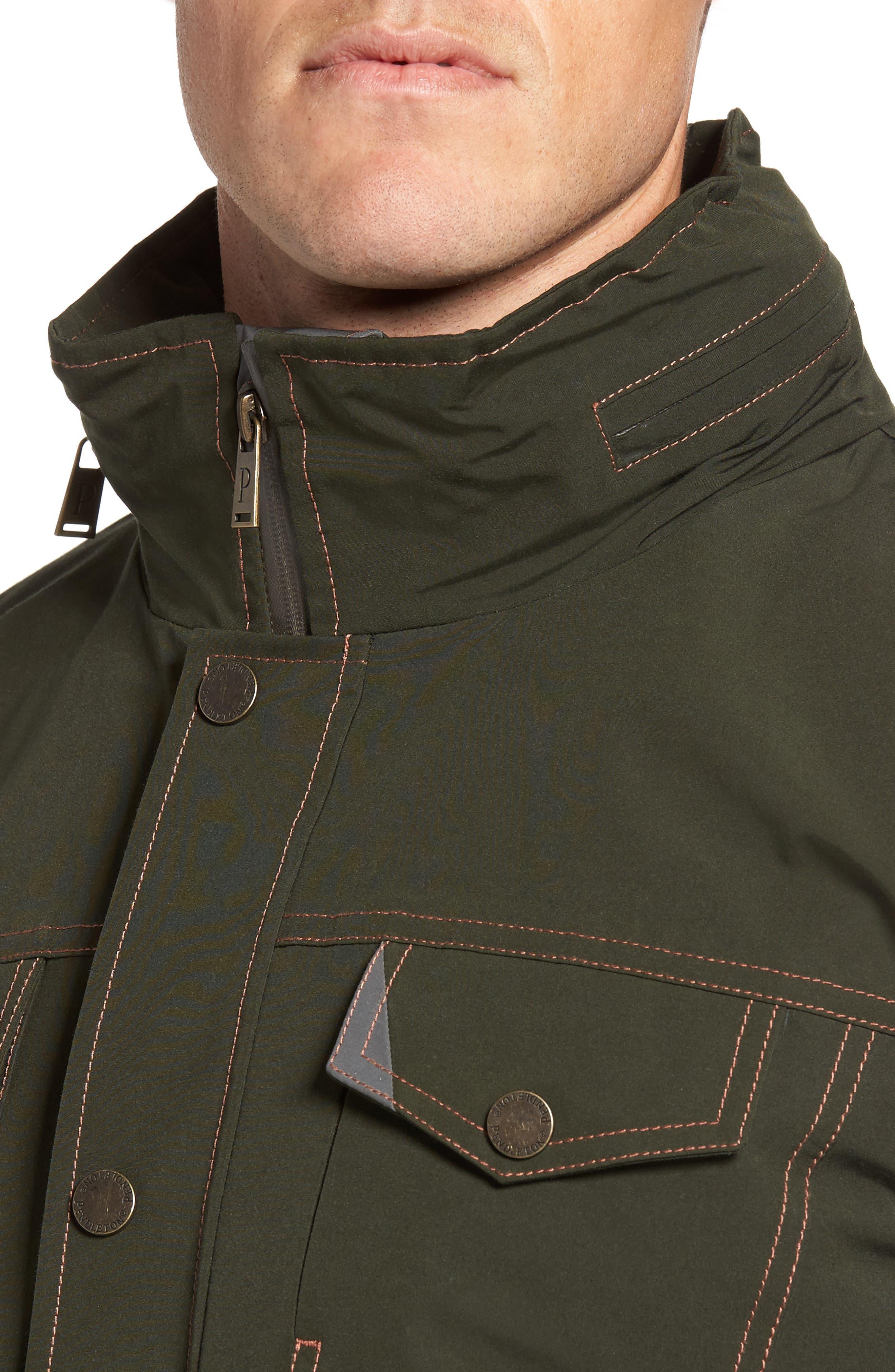Forks Waterproof Jacket,                             Alternate thumbnail 4, color,                             Rosin