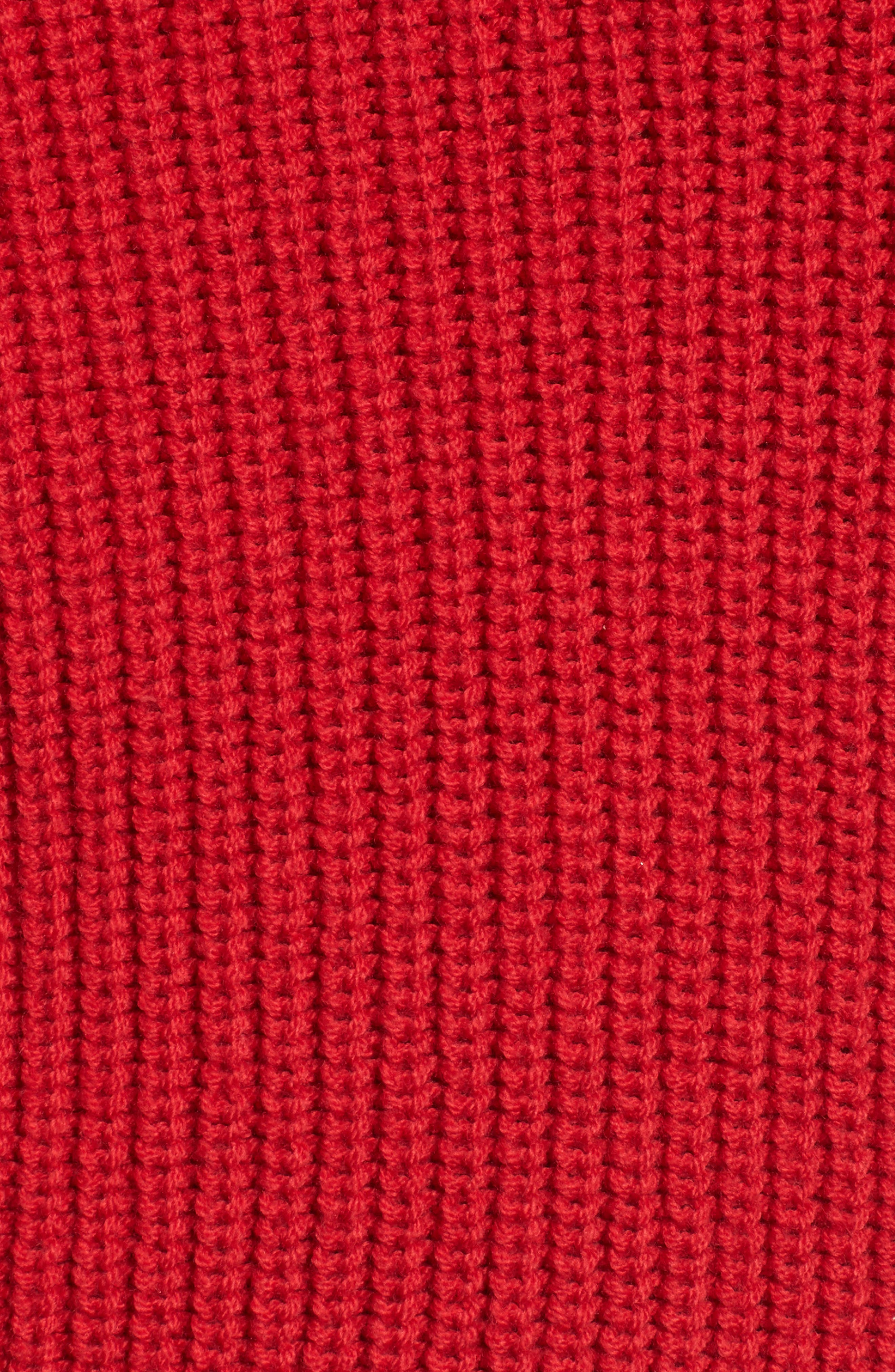 Puff Sleeve Turtleneck Sweater,                             Alternate thumbnail 5, color,                             Red Couture