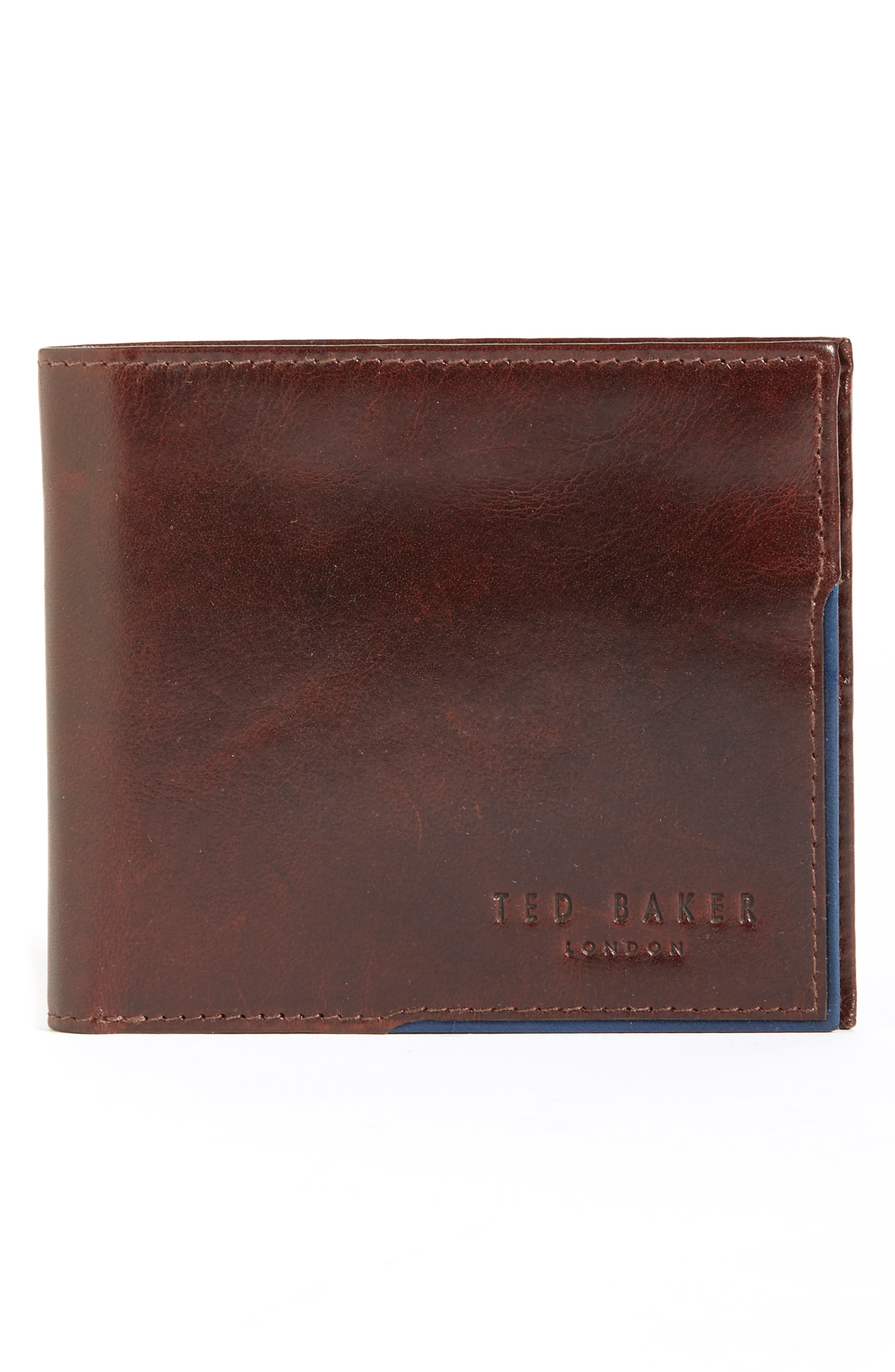 Carouse Leather Wallet,                         Main,                         color, Tan