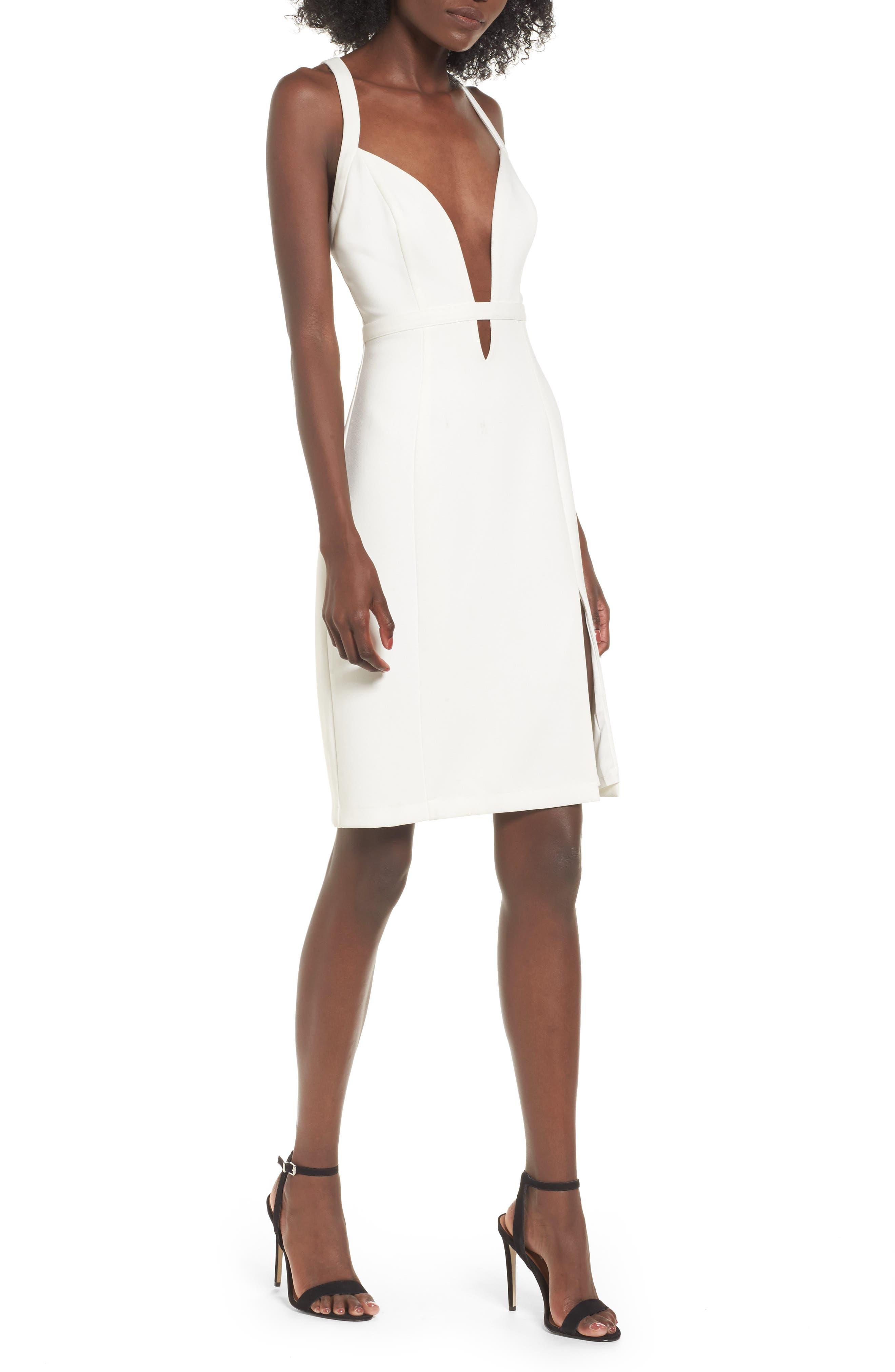 Offense Sheath Dress,                         Main,                         color, Ivory