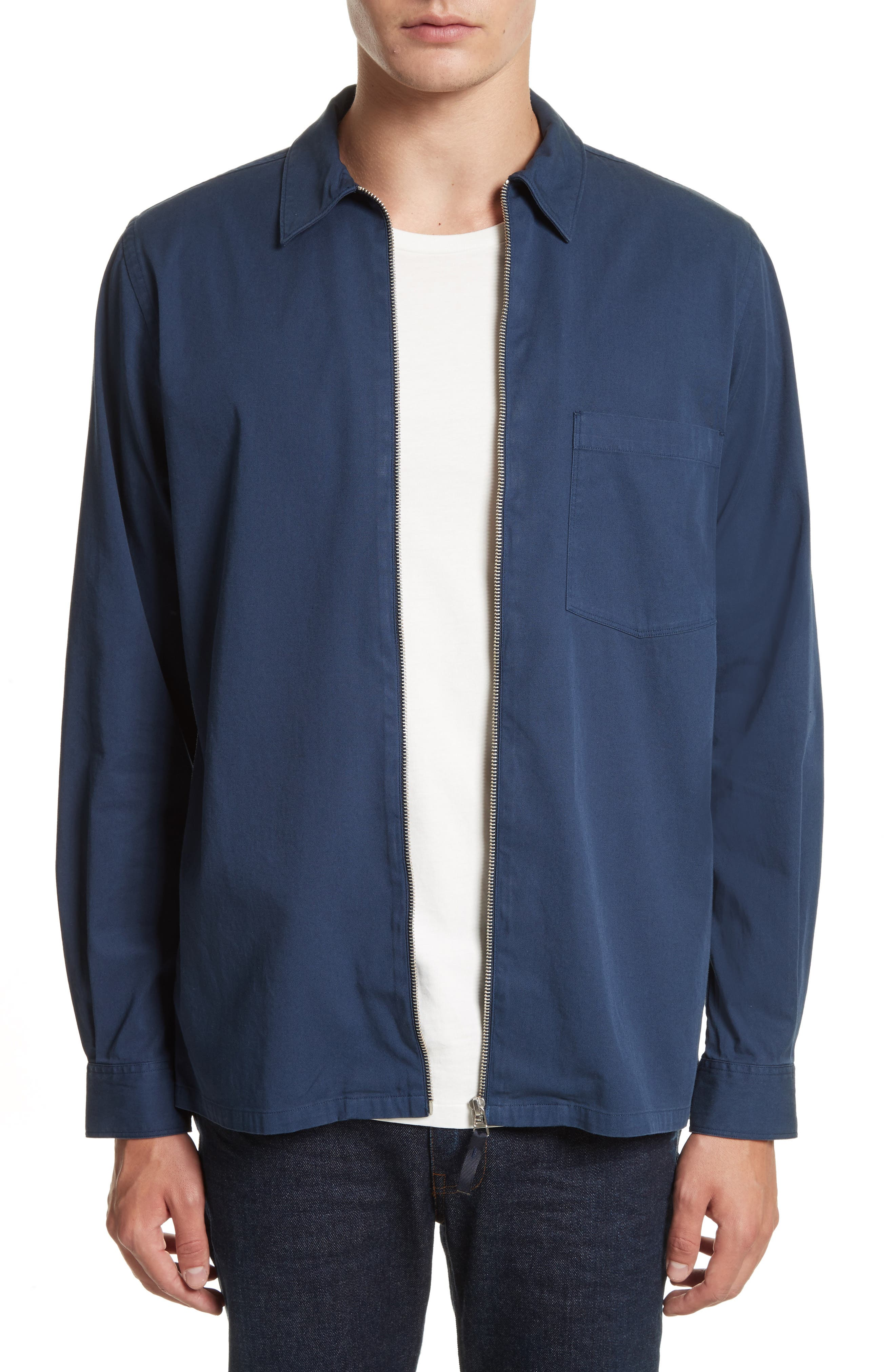 Jens Garment Dyed Twill Jacket,                         Main,                         color, Navy