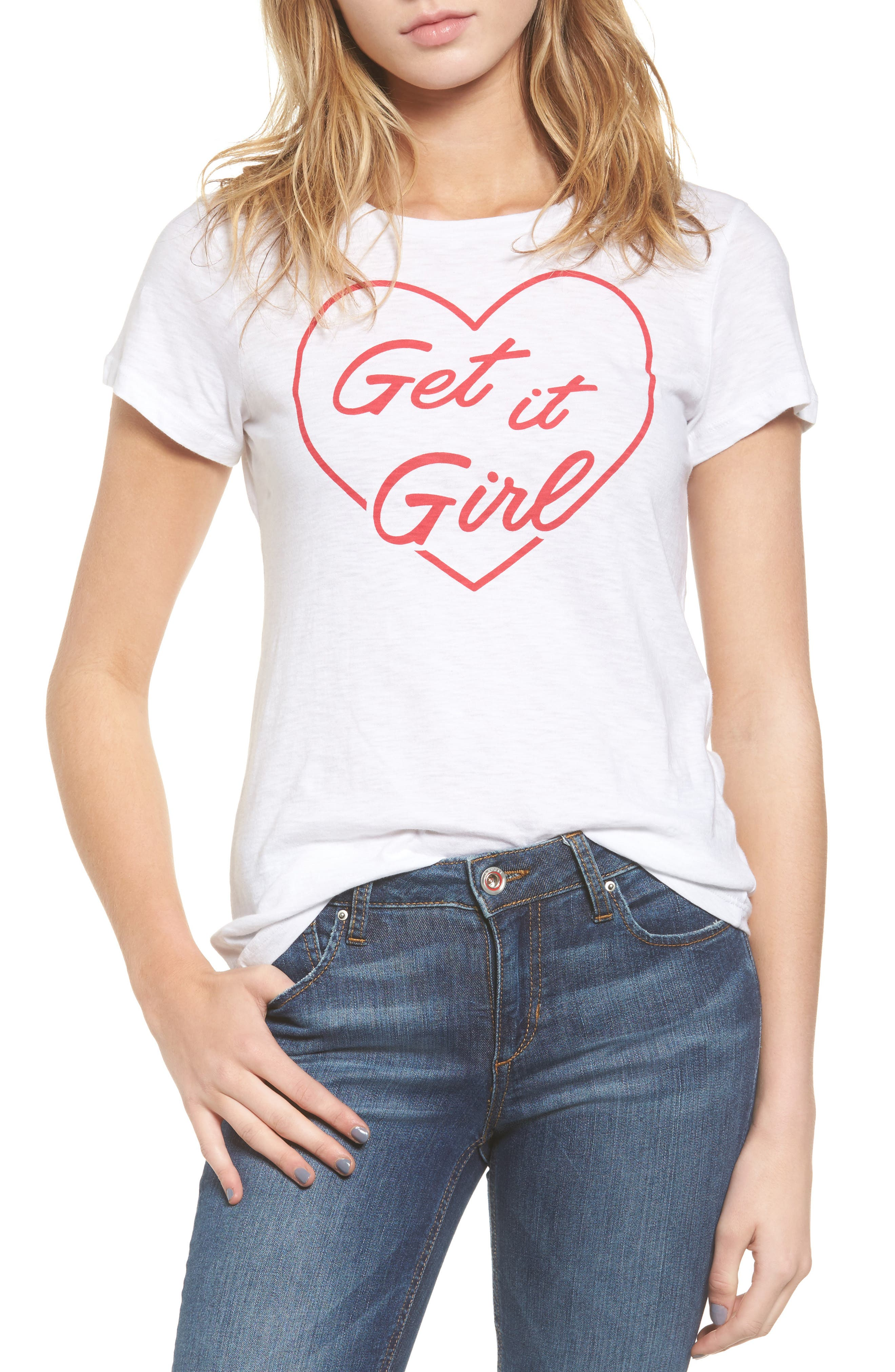 Get it Girl Tee,                         Main,                         color, White