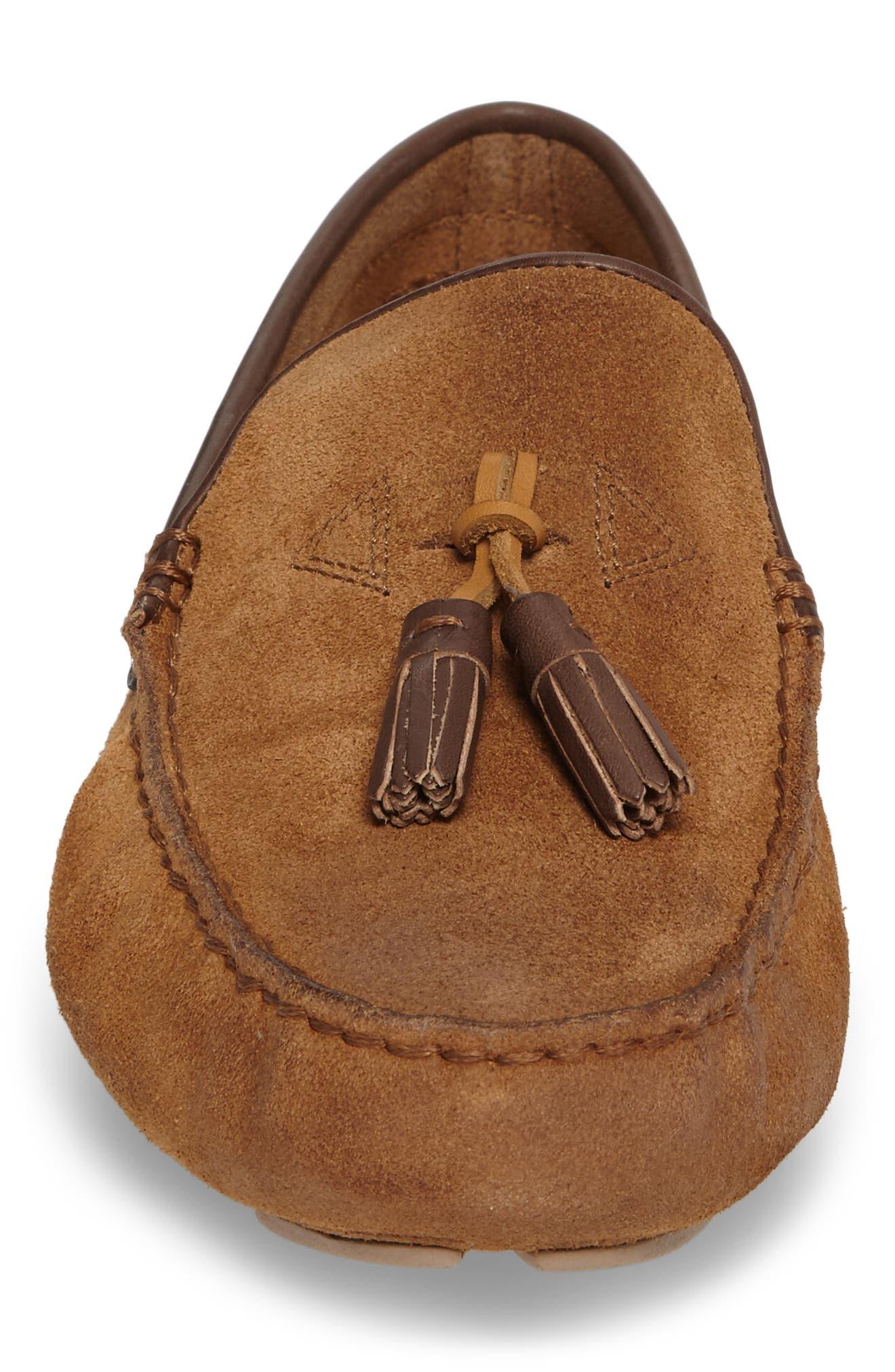 Marris Driving Shoe,                             Alternate thumbnail 4, color,                             Chestnut