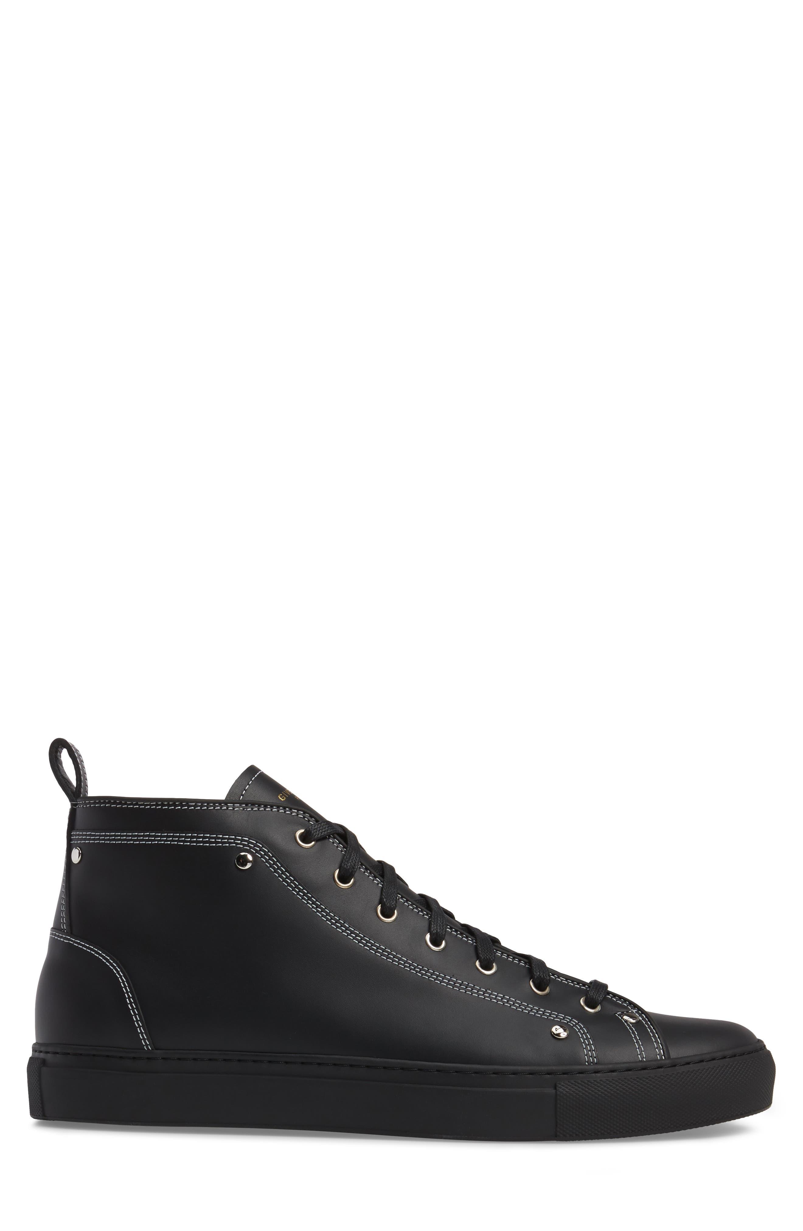 High Top Sneaker,                             Alternate thumbnail 3, color,                             Black