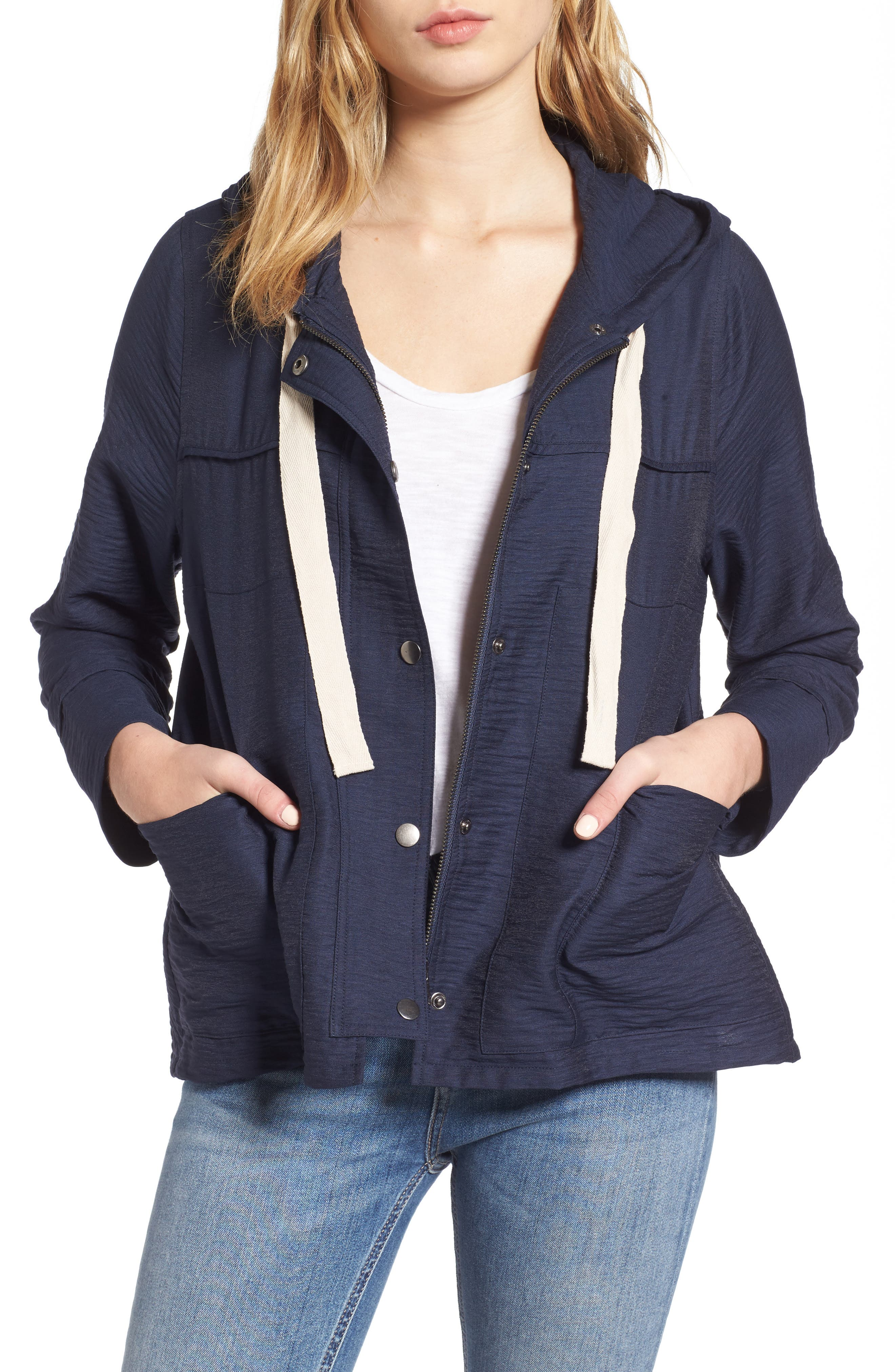 GUEST EDITOR Hooded Swing Jacket