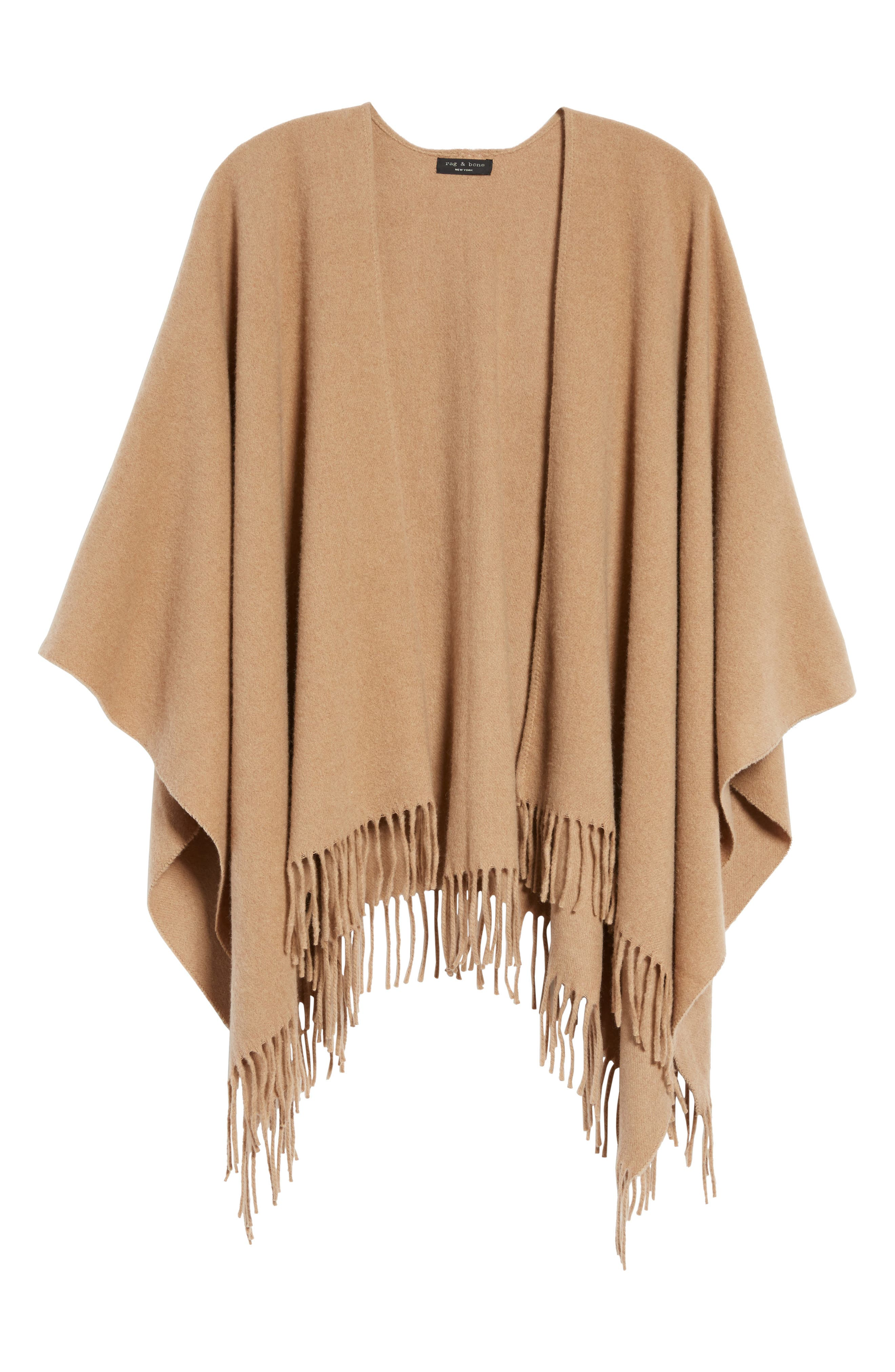 Cashmere Poncho,                         Main,                         color, Heathered Camel