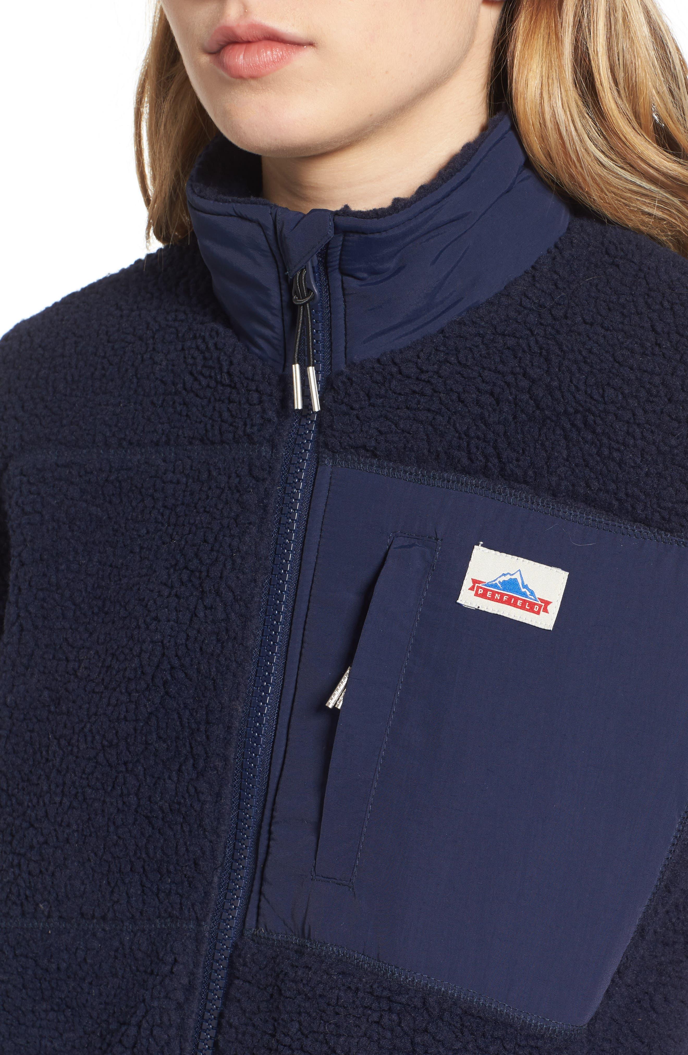 Mattawa Fleece Jacket,                             Alternate thumbnail 4, color,                             Navy