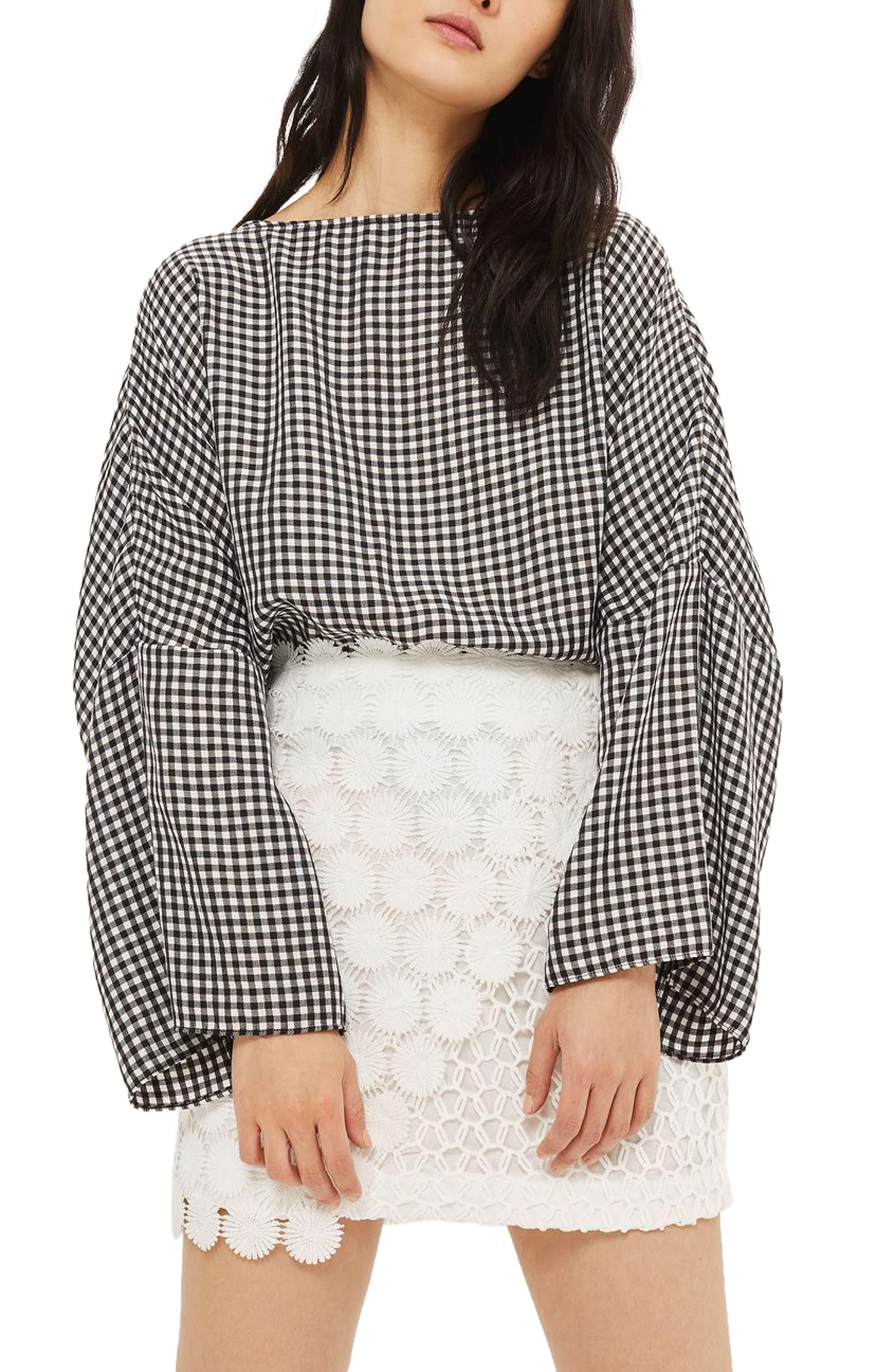 Topshop Rosie Mix Lace Miniskirt