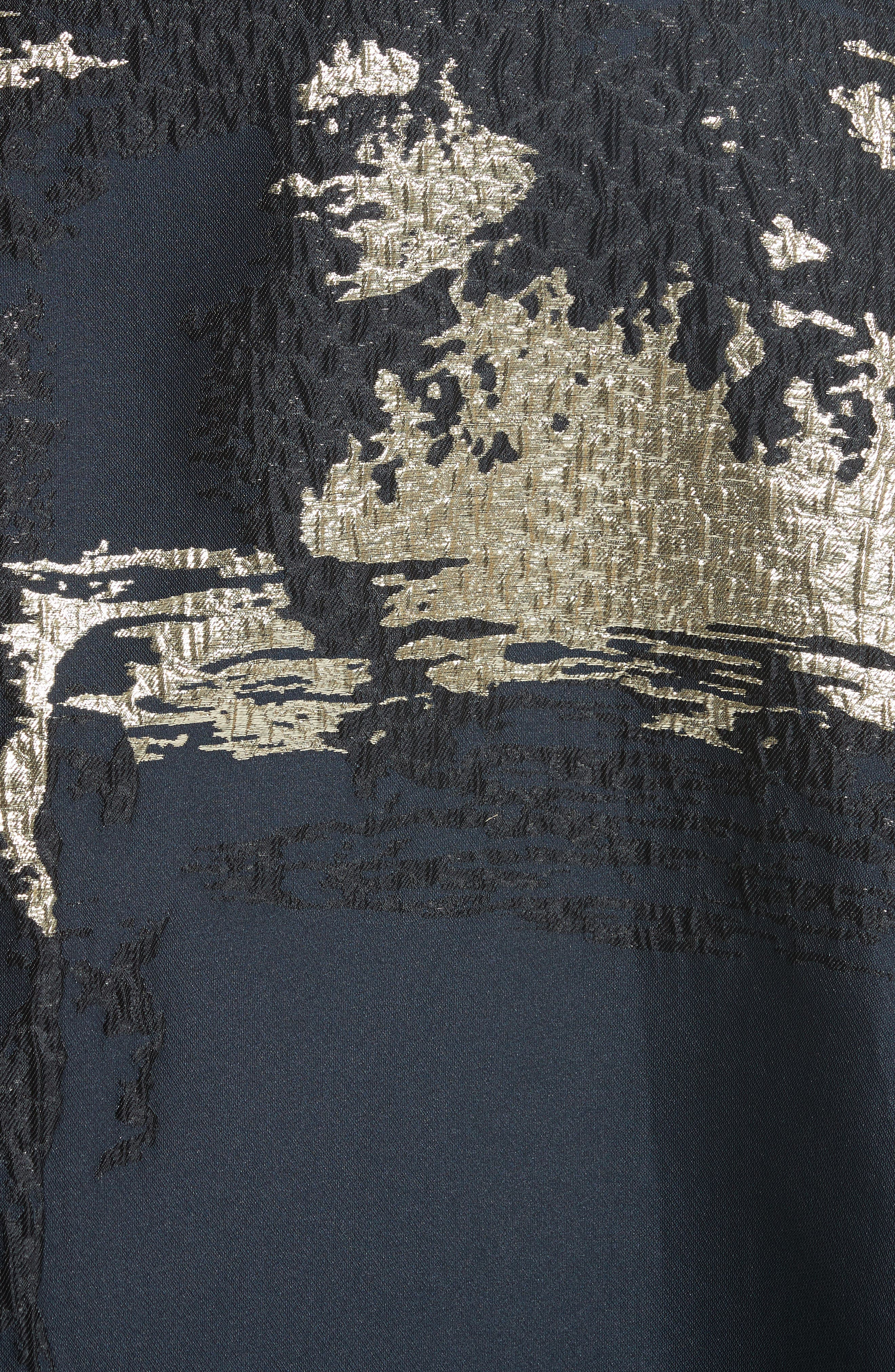 Alternate Image 3  - Rubin Singer Jacquard Draped Asymmetrical Dress