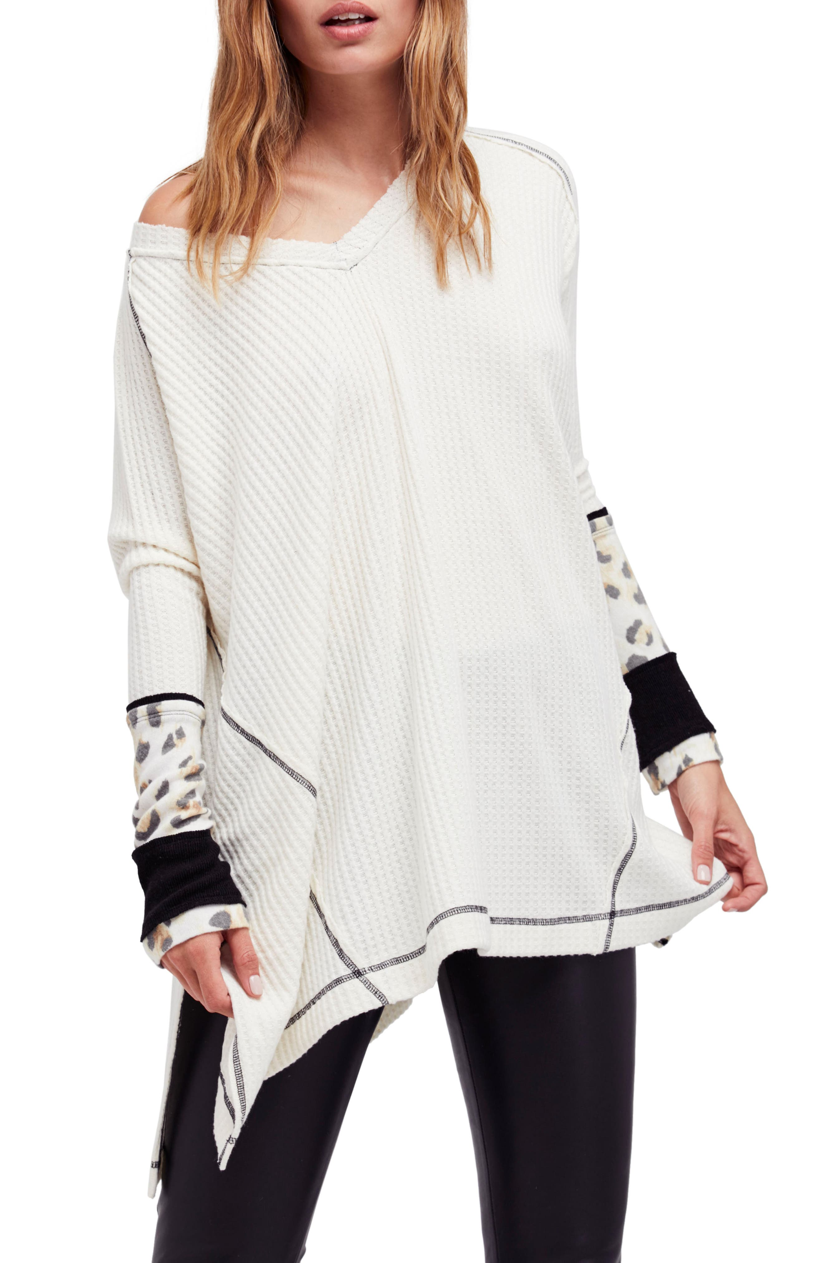 Free People Lovin' Leopard Thermal Shirt