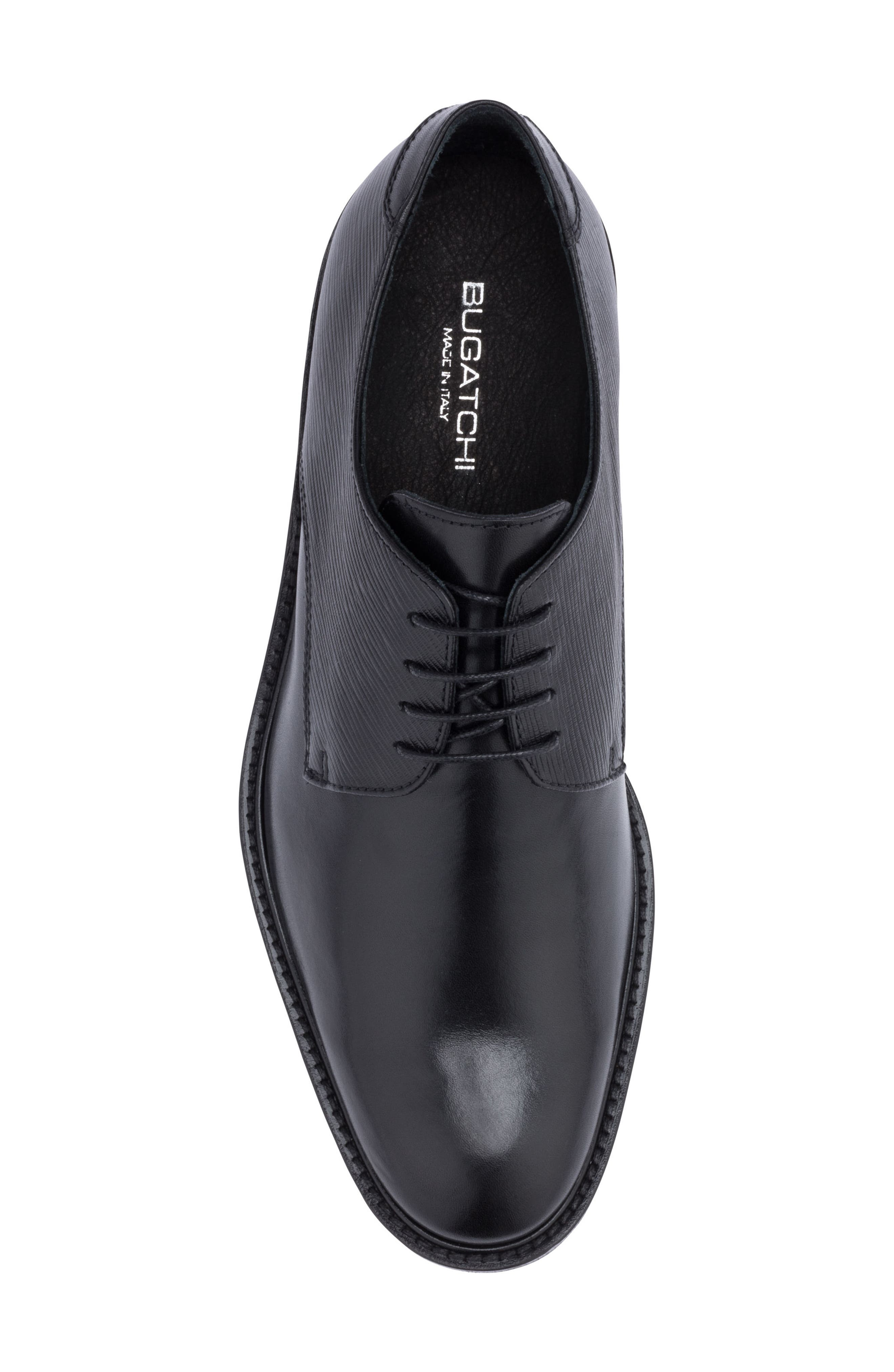 Sorrento Plain Toe Derby,                             Alternate thumbnail 5, color,                             Nero Leather
