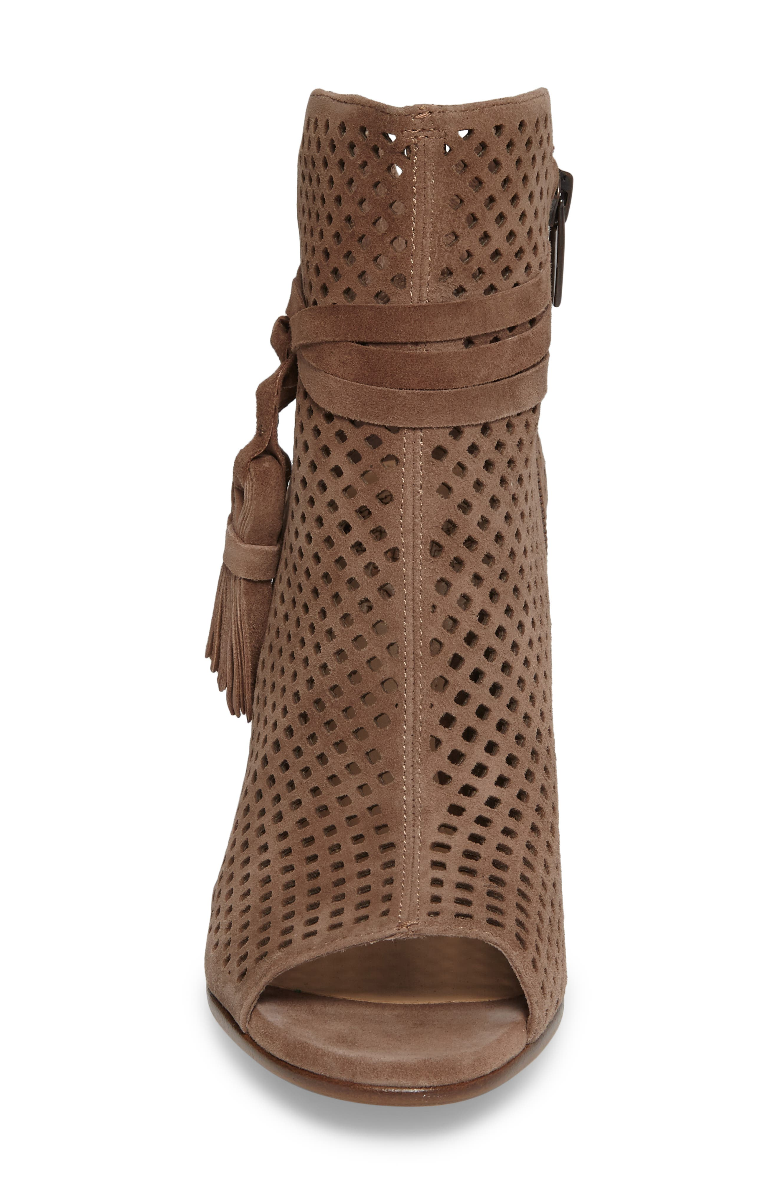 Alternate Image 4  - Vince Camuto Kamey Perforated Open Toe Bootie (Women)