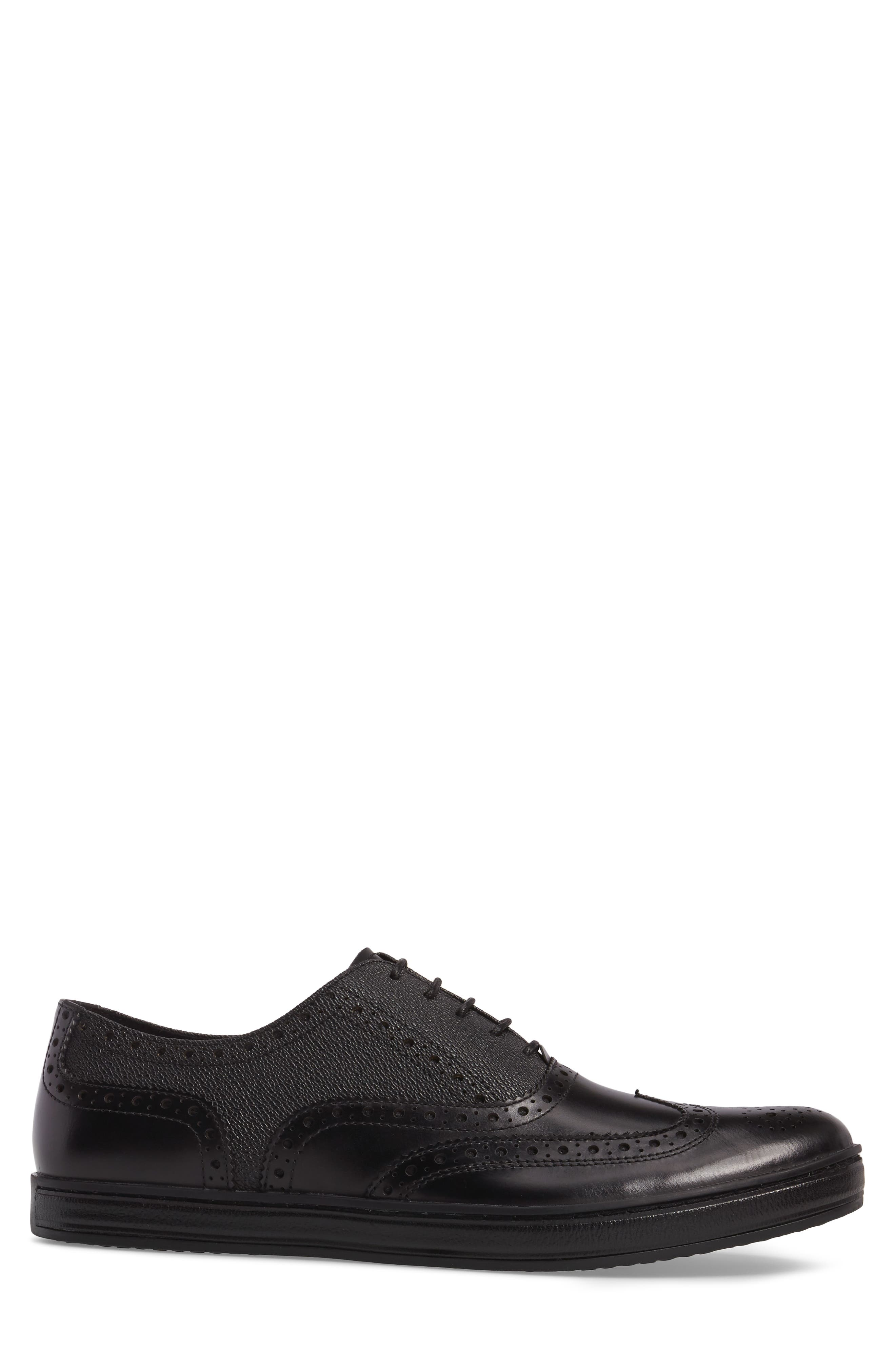 Wingtip,                             Alternate thumbnail 3, color,                             Black Leather