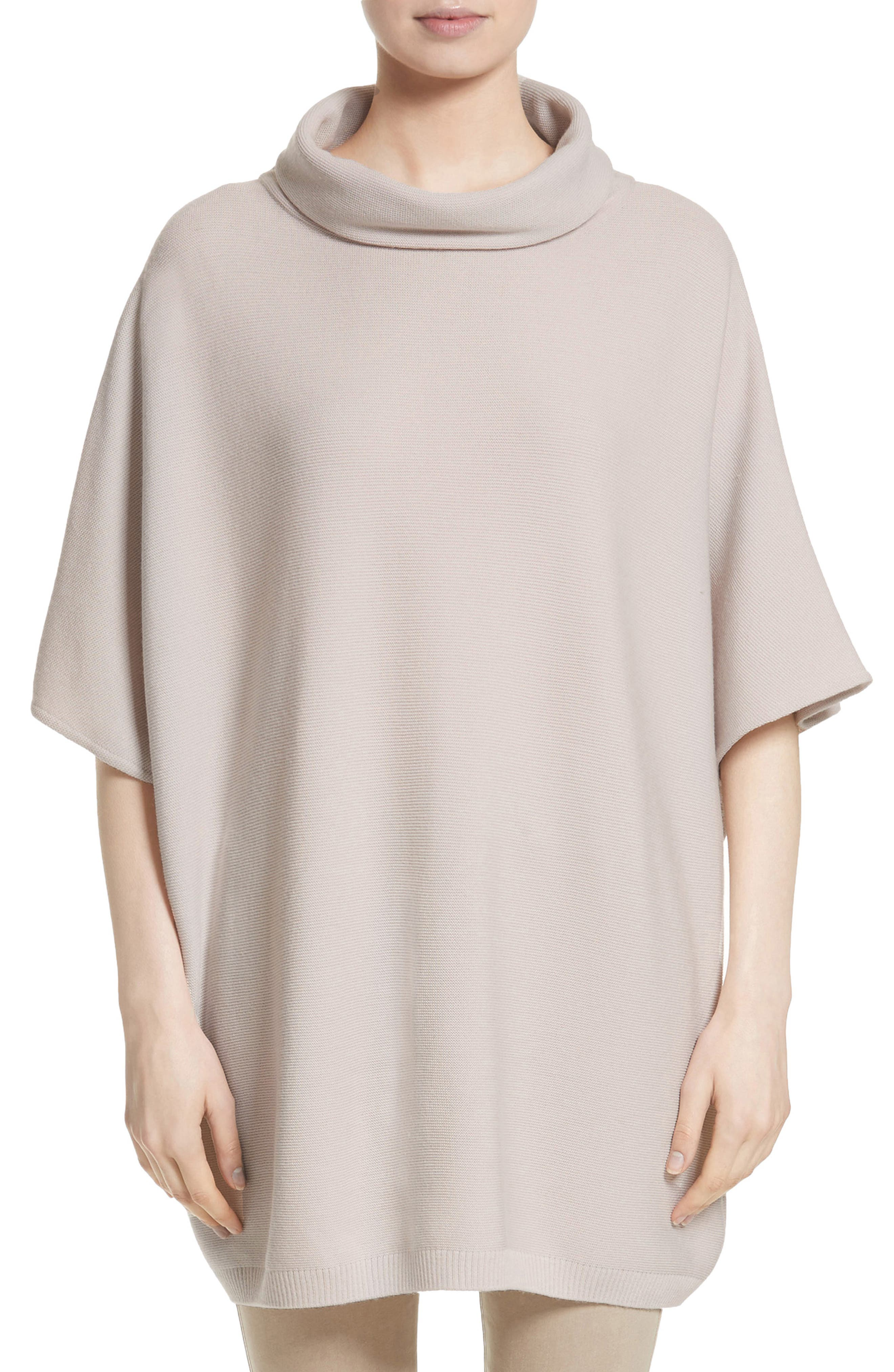 St. John Collection Links Knit Wool Cocoon Tunic Sweater (Nordstrom Exclusive)