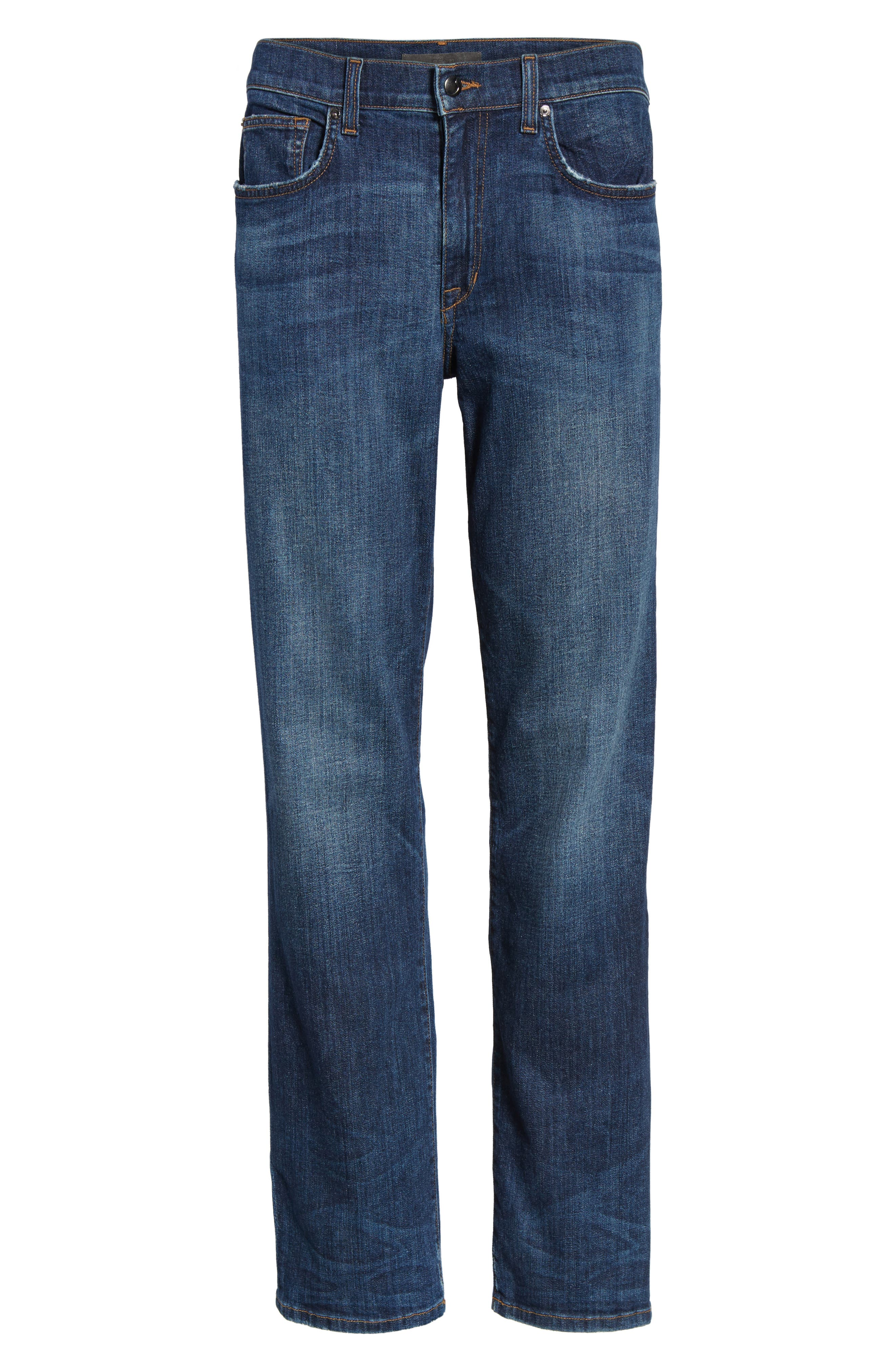 Classic Straight Fit Jeans,                             Alternate thumbnail 6, color,                             Vizzini