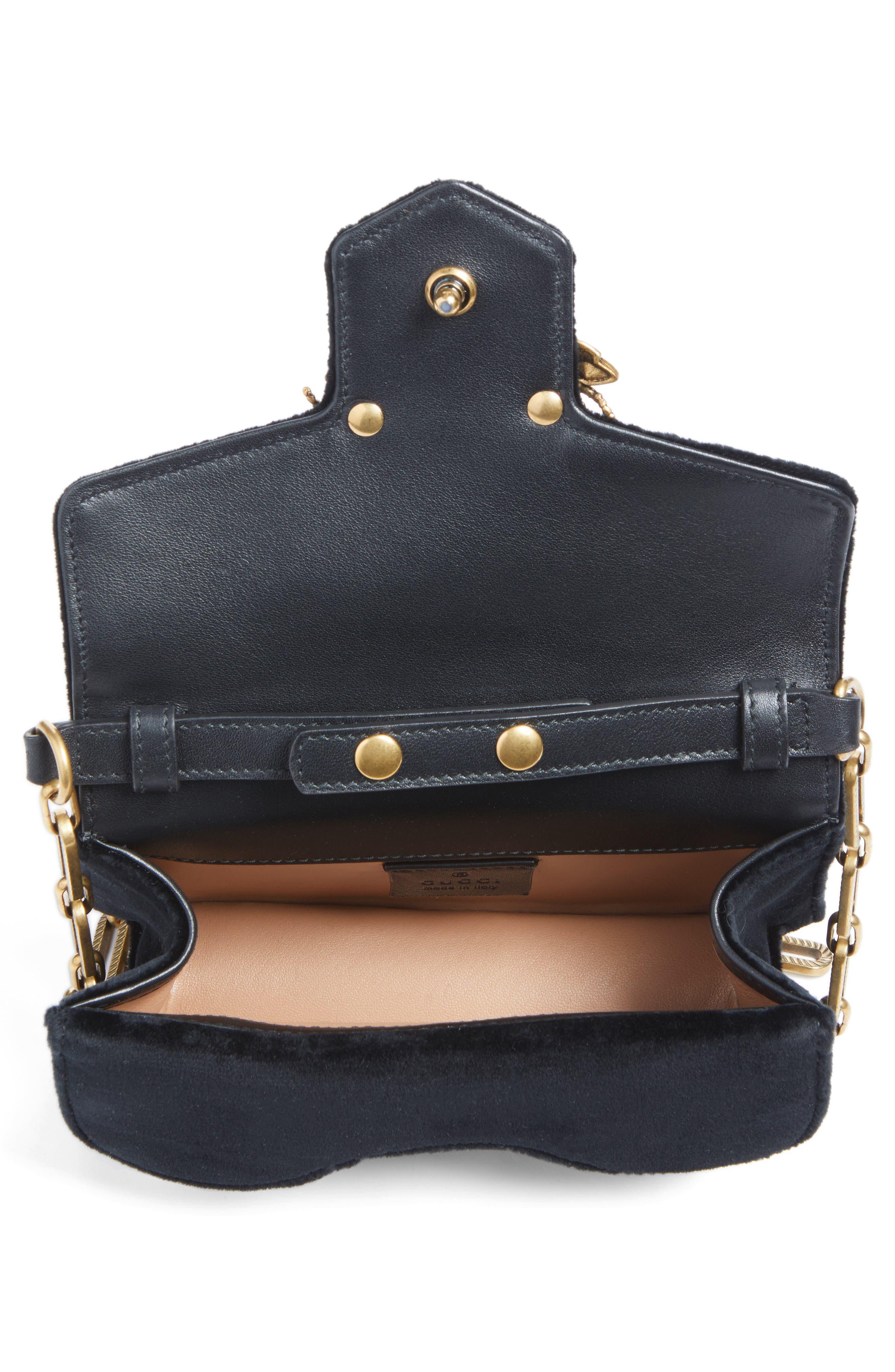 Alternate Image 3  - Gucci Broadway Bee Velvet Shoulder Bag