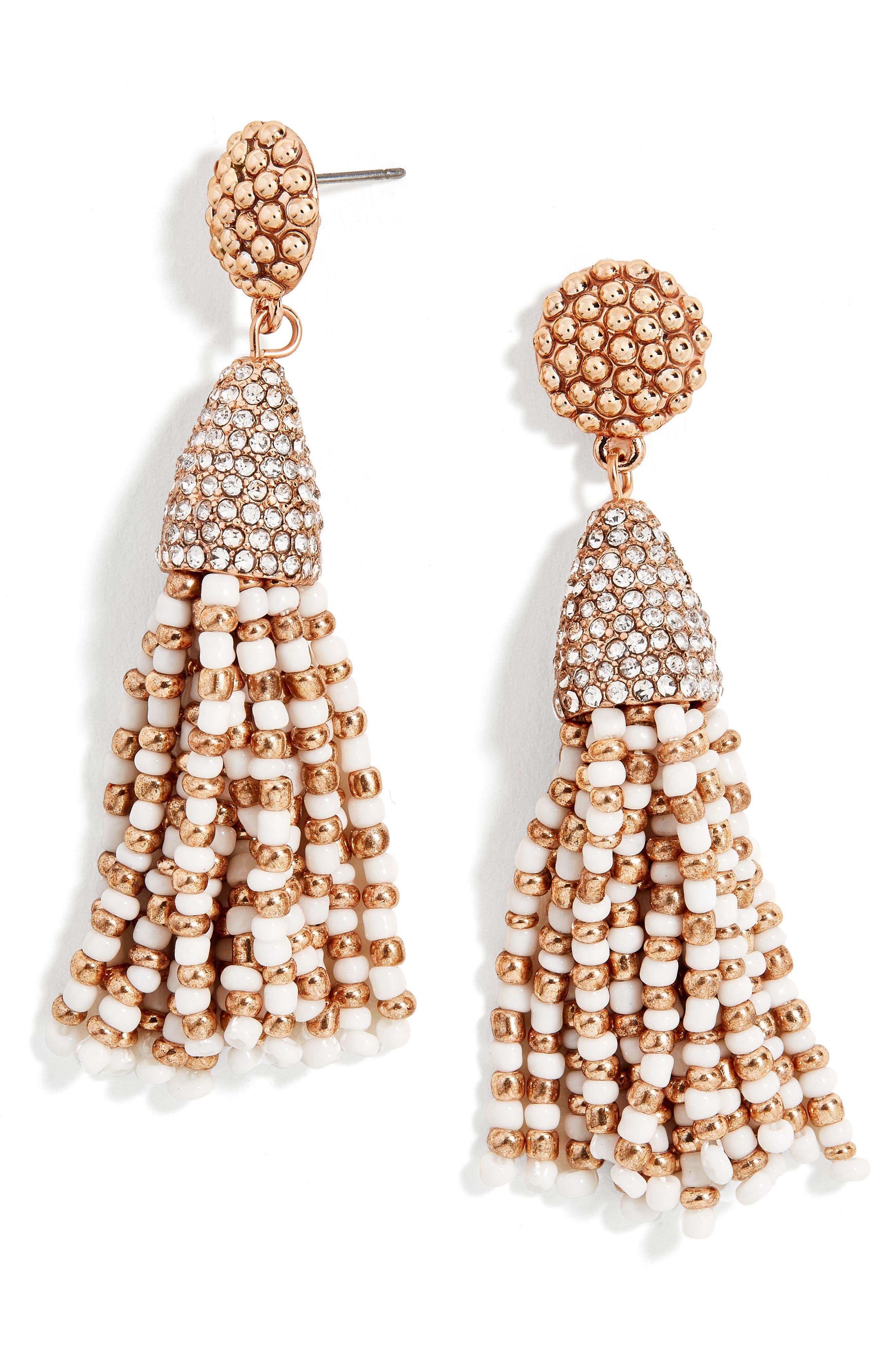 Tassel Earrings,                         Main,                         color, Rose Gold