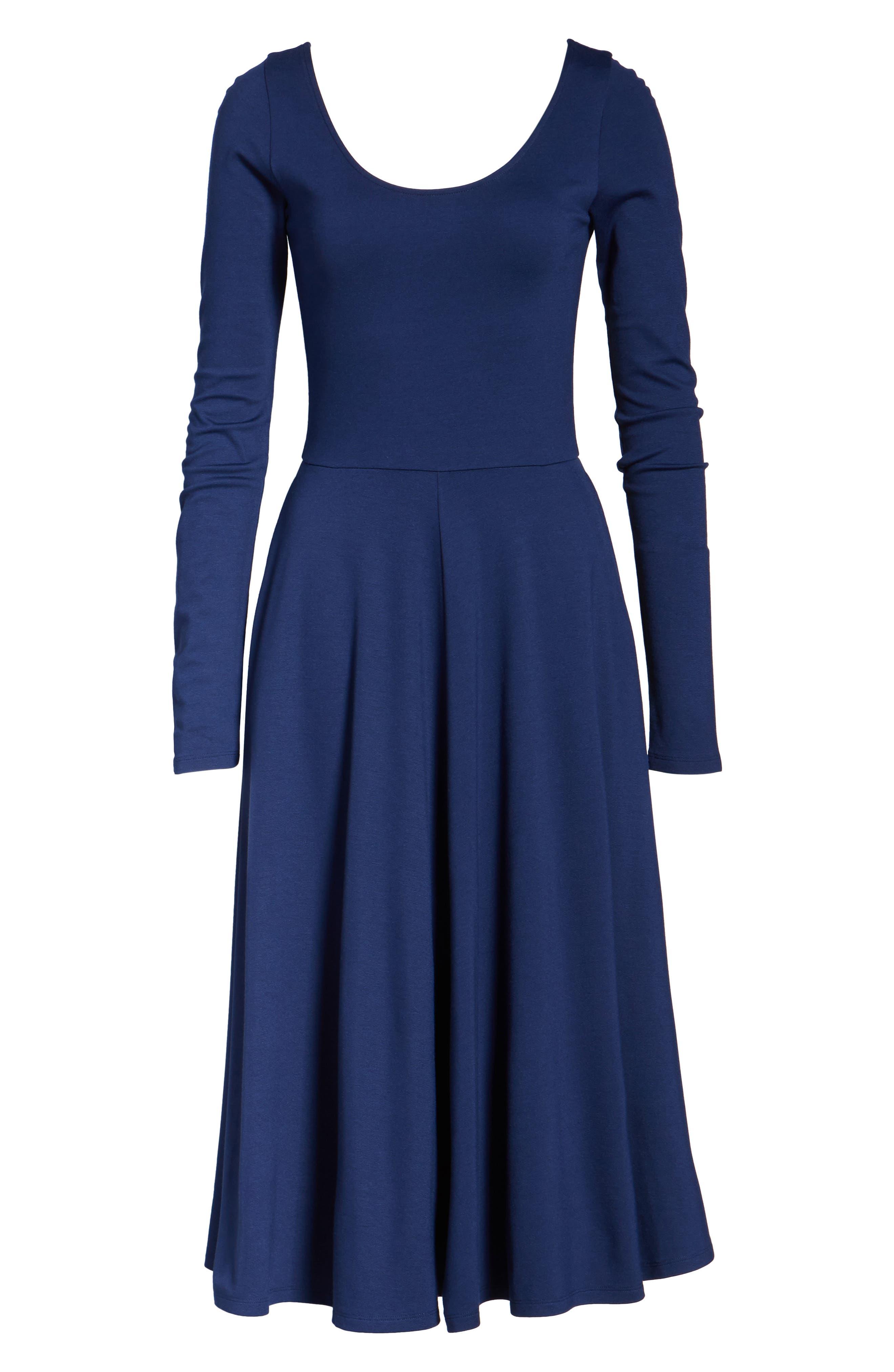 Alternate Image 6  - Leith Long Sleeve Midi Dress