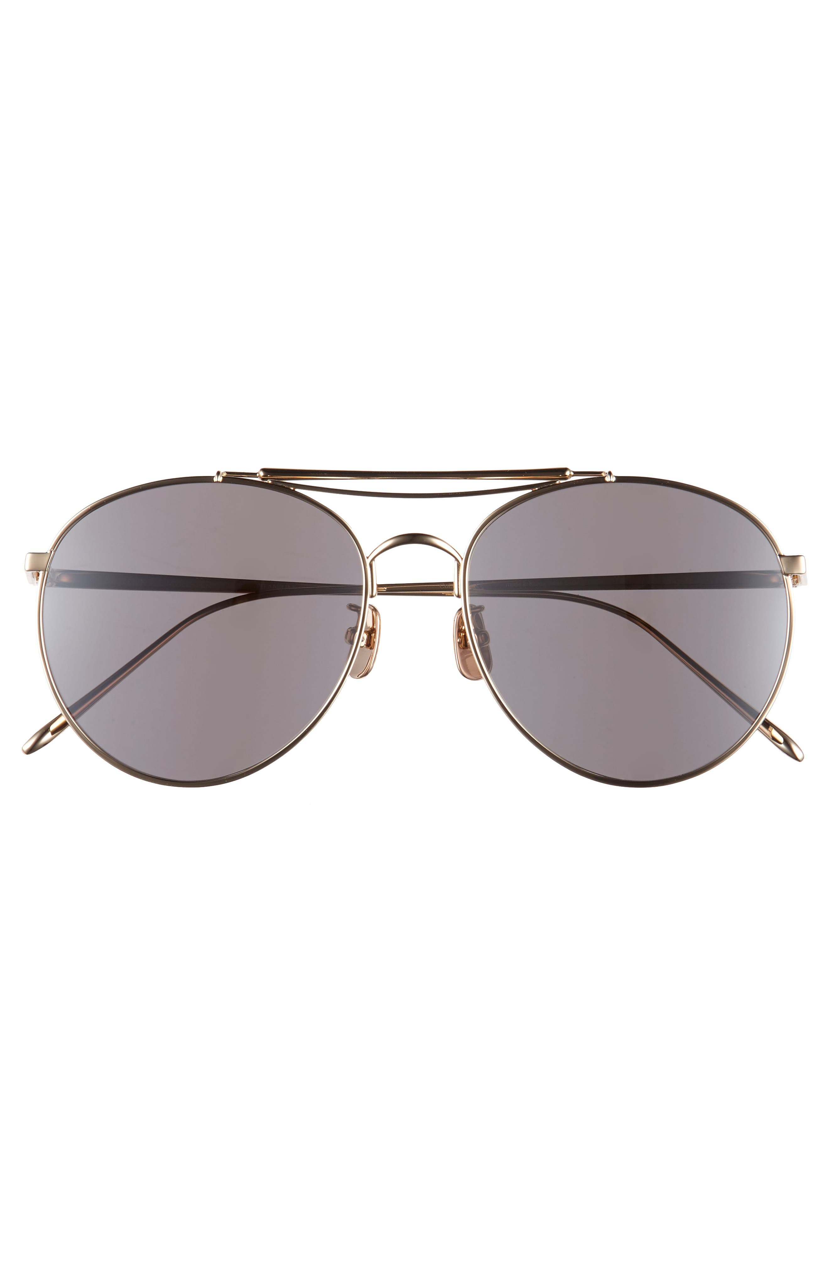 d0f6ab3c33 Shop Gentle Monster Big Bully 56Mm Aviator Sunglasses - Gold  Silver ...