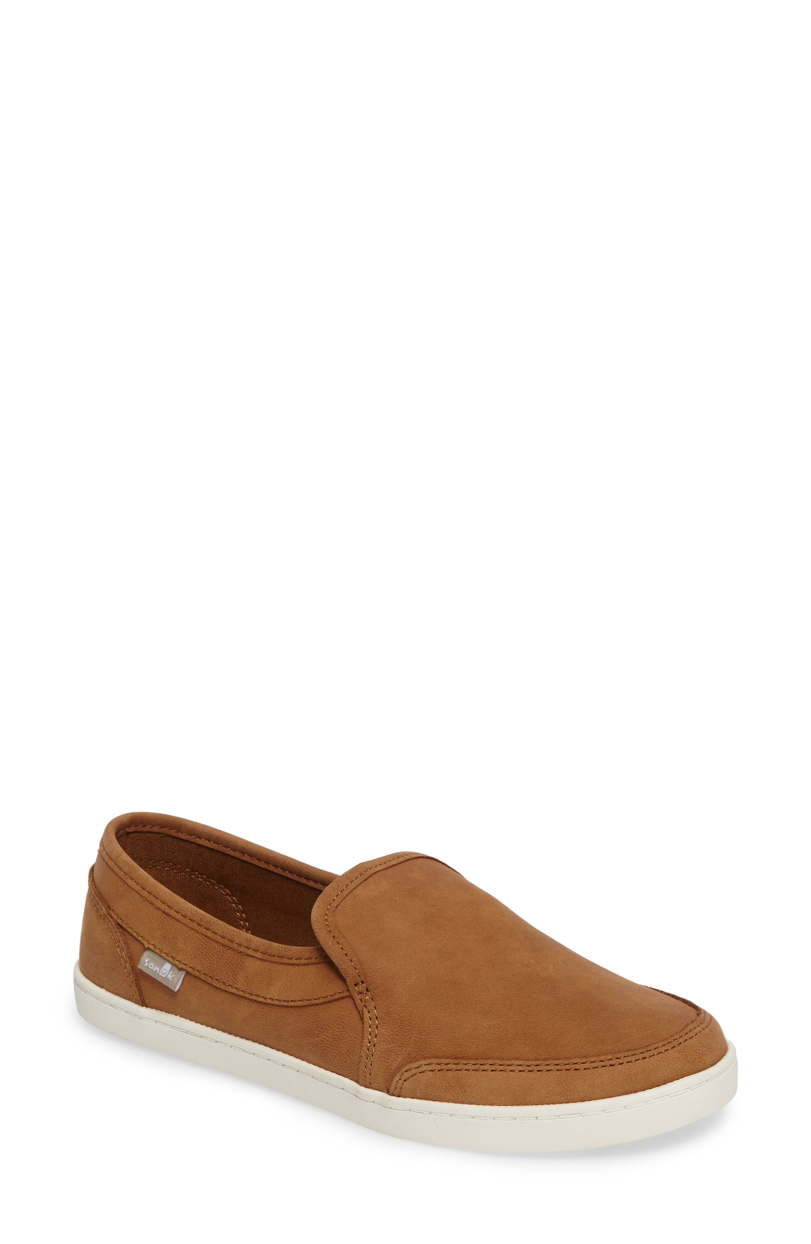 'Pair O Dice' Slip On,                         Main,                         color, Tobacco Brown