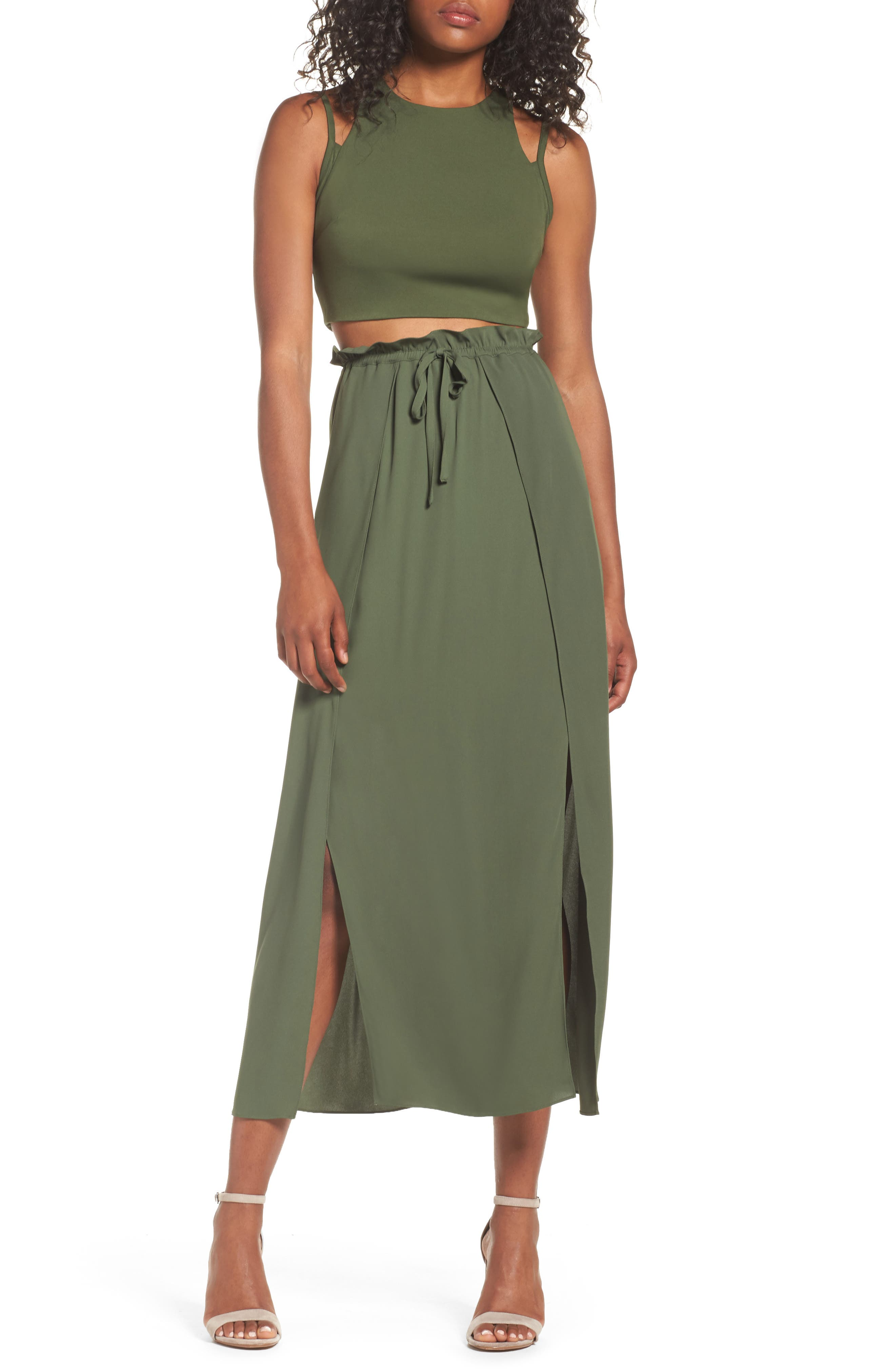 Pony Ride Two-Piece Dress,                         Main,                         color, Army