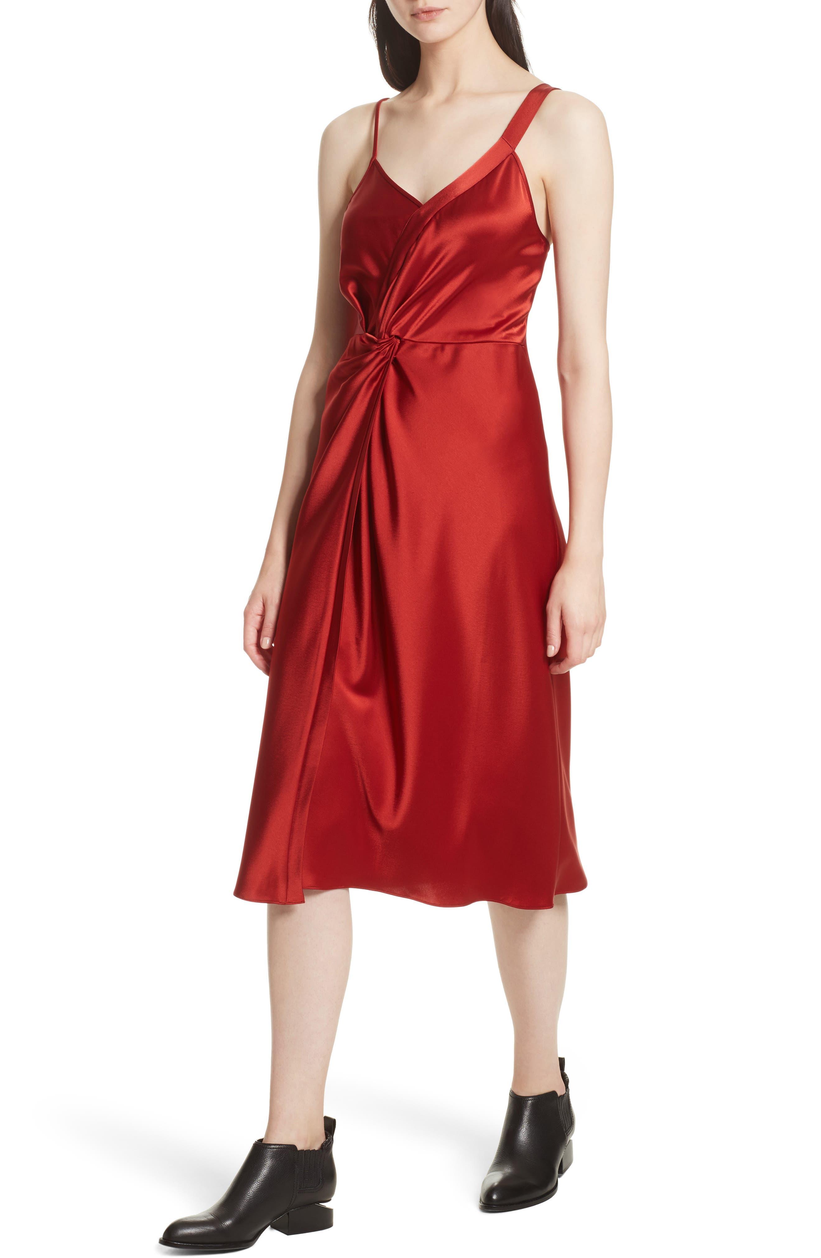 Alternate Image 4  - T by Alexander Wang Draped Satin Dress